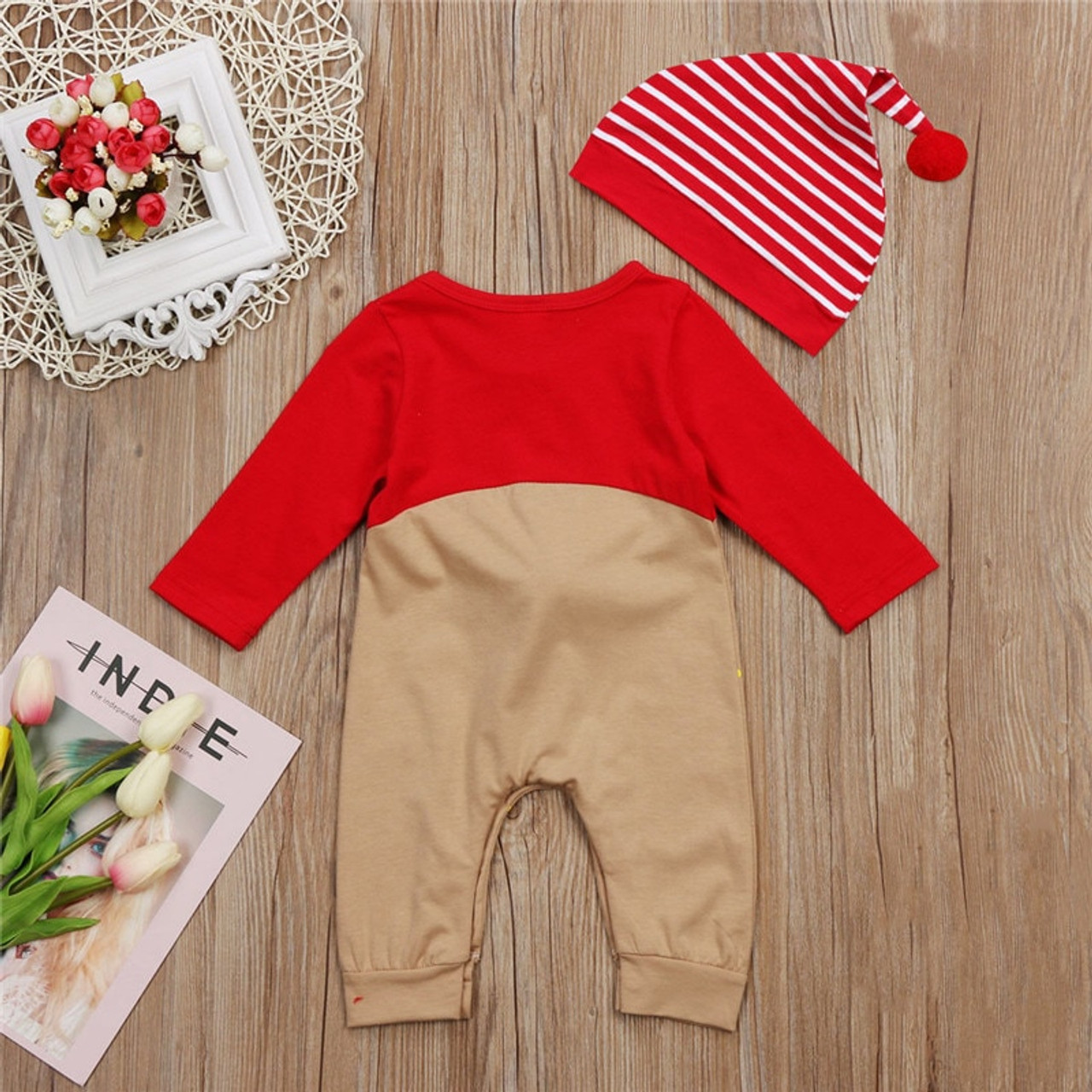 b06be3393e498 Cute Newborn Baby Rompers Cotton Long Sleeve CartoonToddler Jumpsuit Infant  Christmas Clothes Baby Boys Girls Clothing