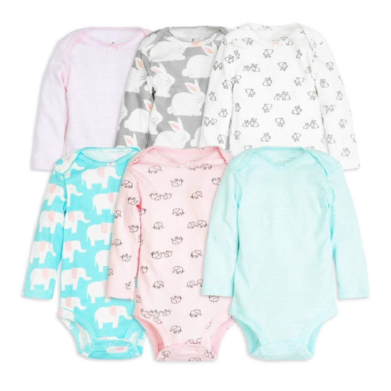 e1aad1edcb09 6pcs baby girl rompers 2018 newborn baby clothes long sleeve clothing  romper baby jumpsuit cute rabbit ...