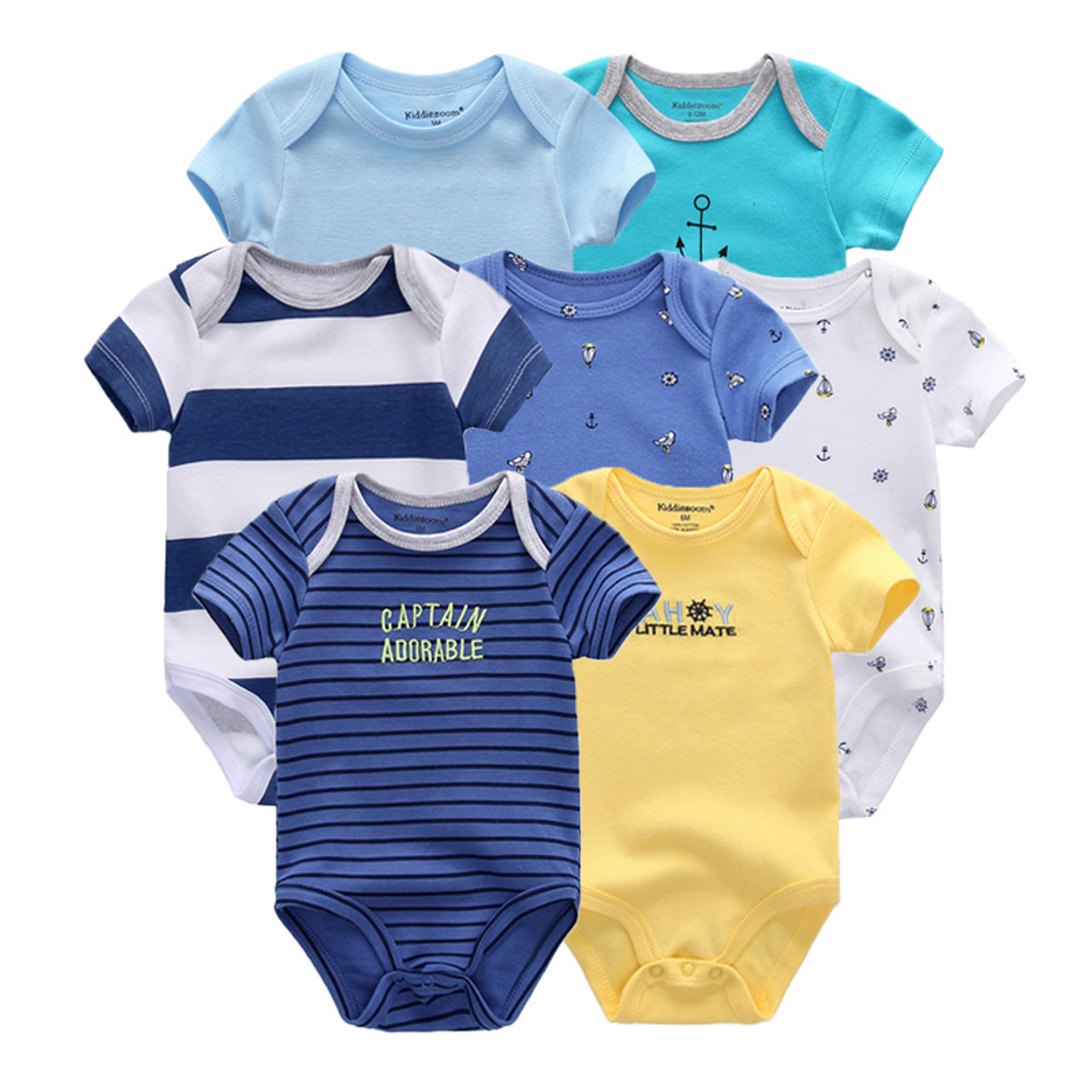 2ae98d111 7 PCS lot newborn baby clothes baby rompers short sleeve baby ...