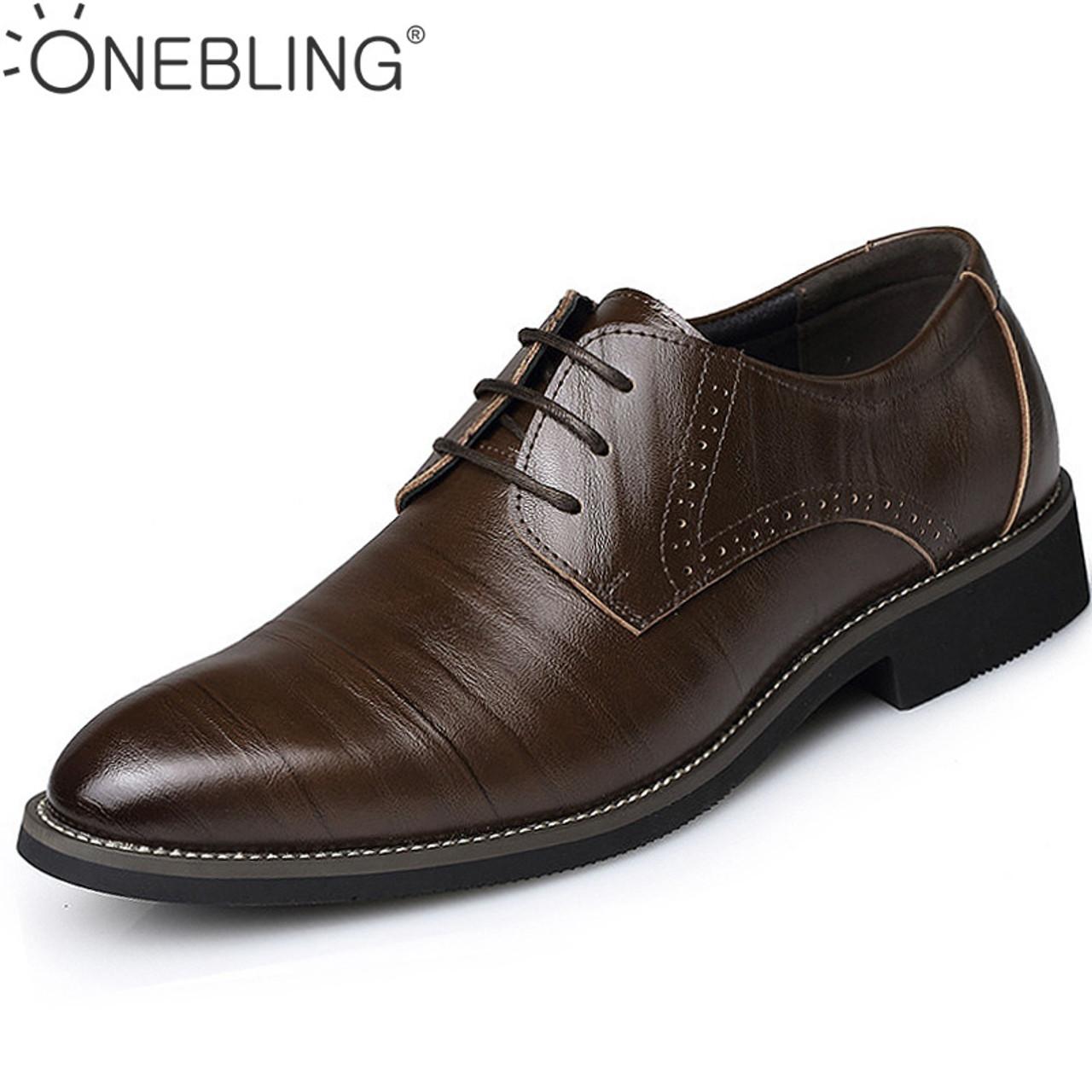 f00009389c7 Hot Sale Men Leather Dress Shoes 2017 Fashion Wedding Shoes Breathable Business  Shoes Lace-up ...