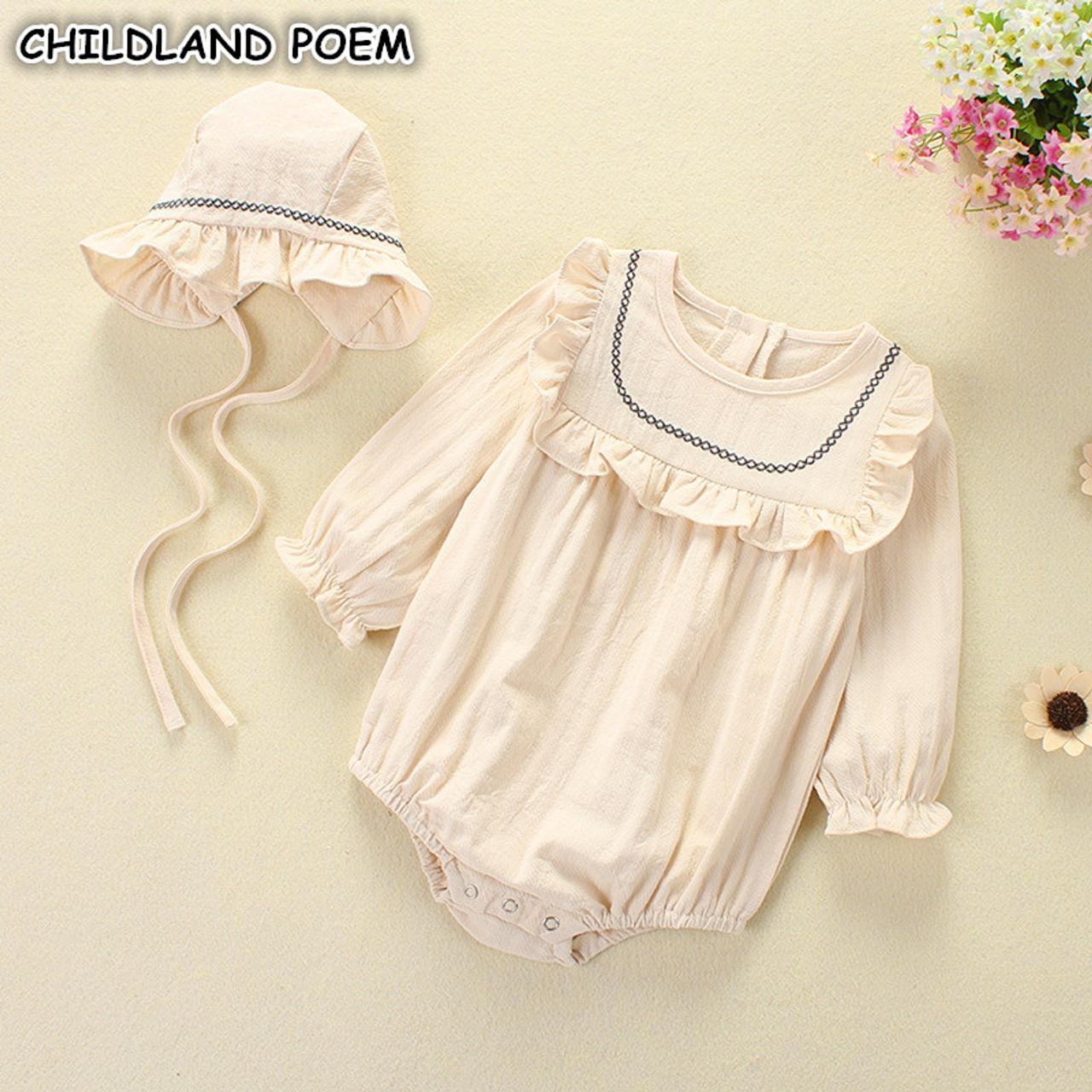 444cdefdd Baby Girl Romper Spring Summer 2018 Newborn Baby Clothes Girl Long ...