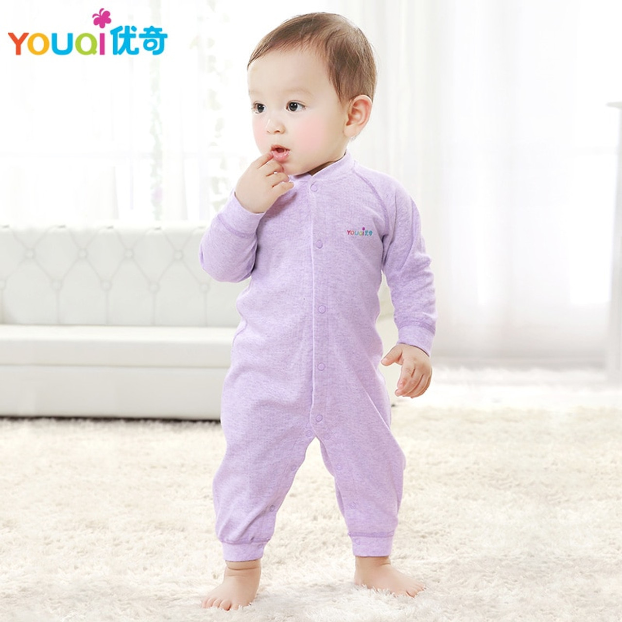 14d44d69e8820 YOUQI Colored Cotton Baby Rompers Baby Boy Clothes 3 6 Months Autumn  Toddler Infant Jumpsuit Clothing ...
