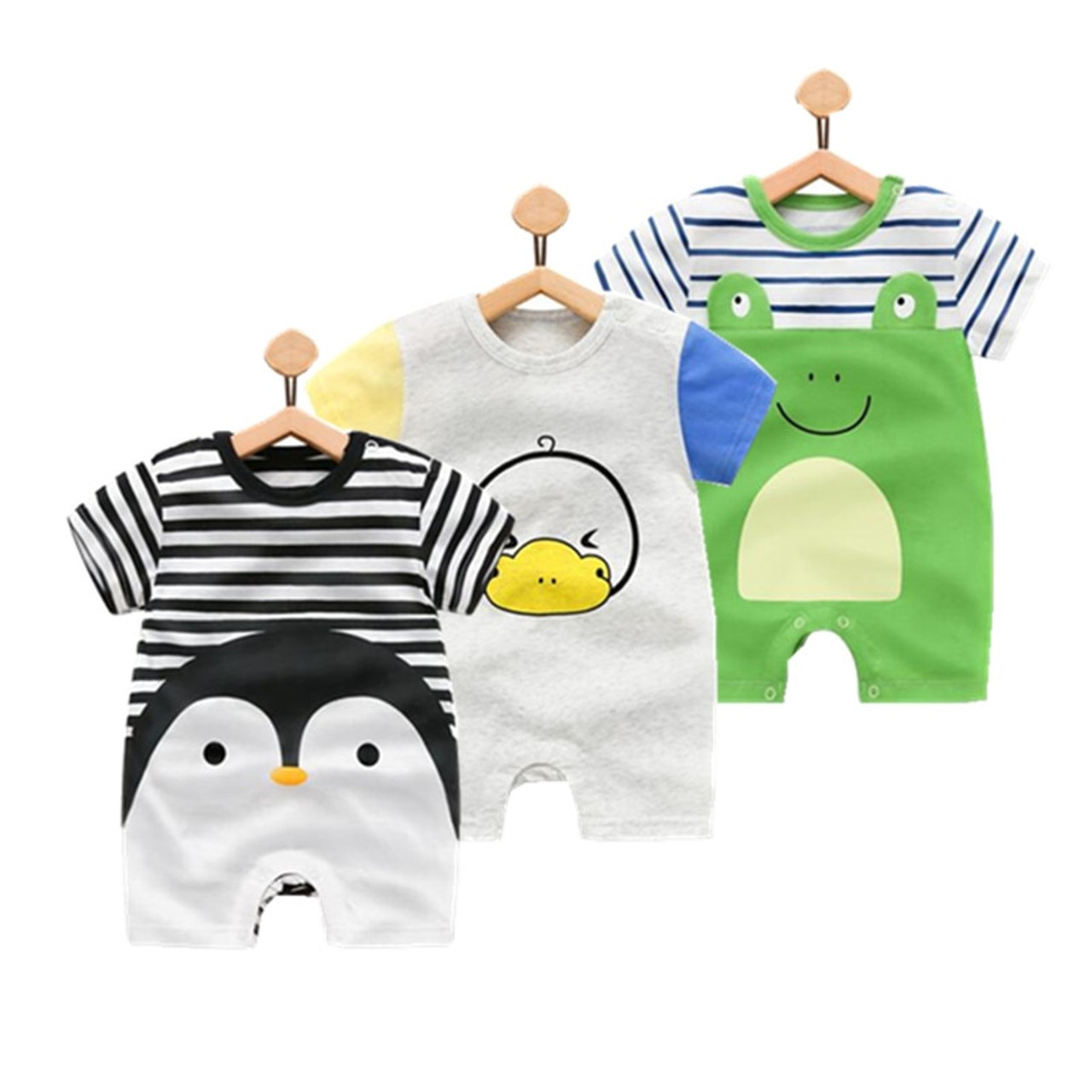 598445e73 Baby rompers summer style Penguin baby boy clothes newborn girl ...