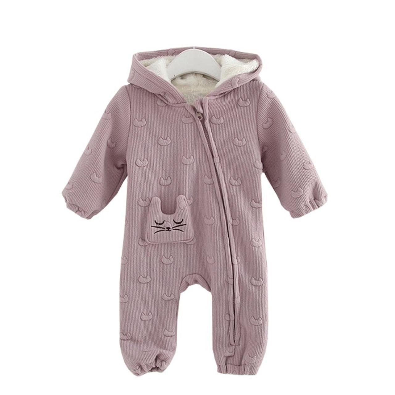 8d7bd156b16c6 Halilo Baby Girl Romper Winter Thicken Warm Christmas Romper Newborn  Clothing Baby Boy Rompers Hooded Boys Girls Jumpsuit 2018