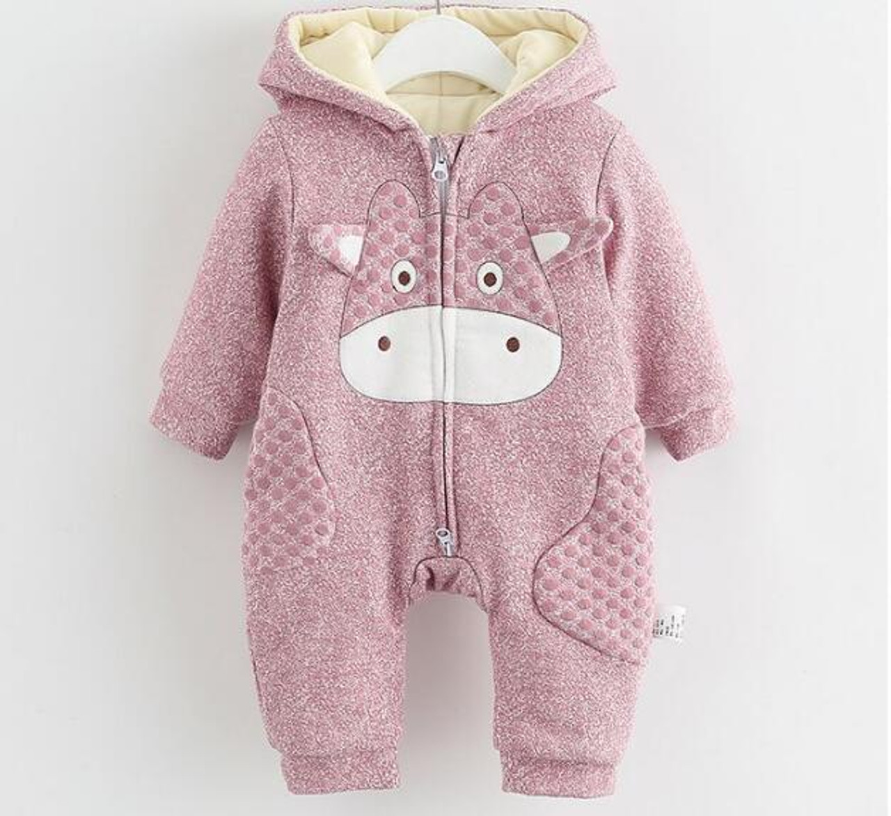 910edacb5845c Winter Baby Romper Animal Thick Warm Baby Boys Girls Clothes Hooded Newborn  Baby Clothes Toddler Infant Baby Overalls Jumpsuit