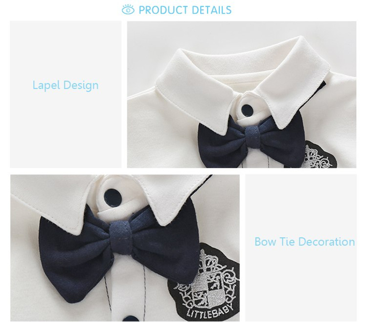 01b29a422 Newborn Clothing Baby Boy Clothes Bow Tie Baby Jumpsuits Roupas Bebe ...