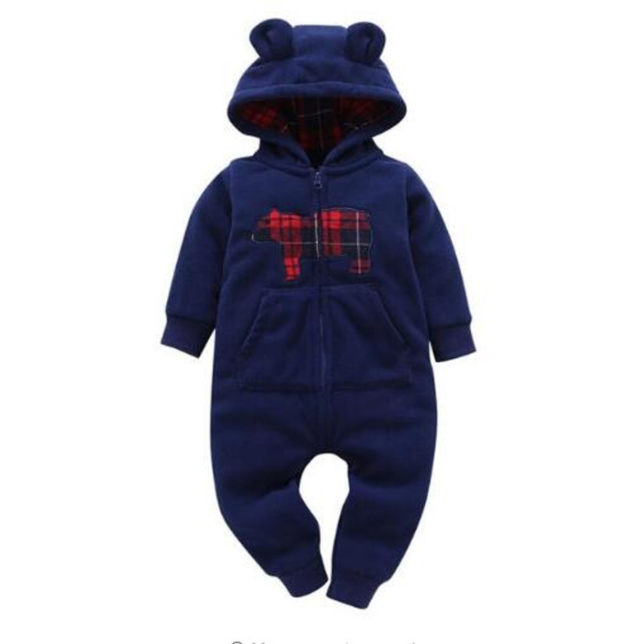 c2e31e2afa19 2018 baby boys clothes girls Fleece rompers cartoon Hooded Jumpsuit ...