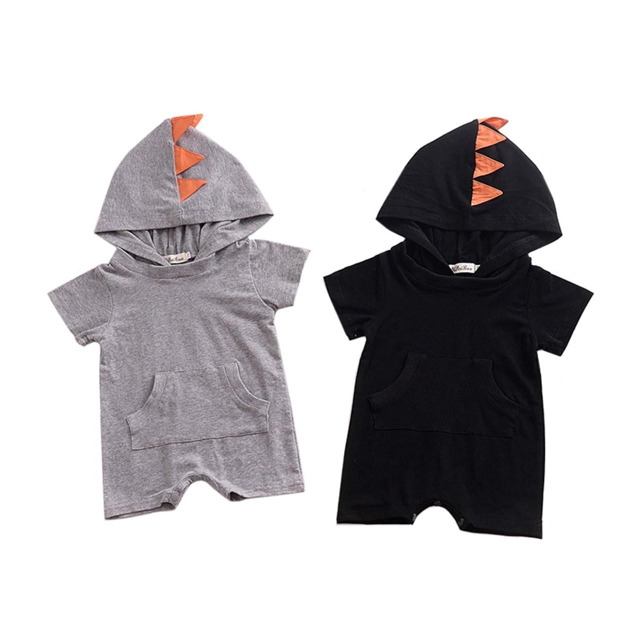 Unisex Child Cartoon Design Fox Hooded Jacket Outwear Coats Kids Clothing