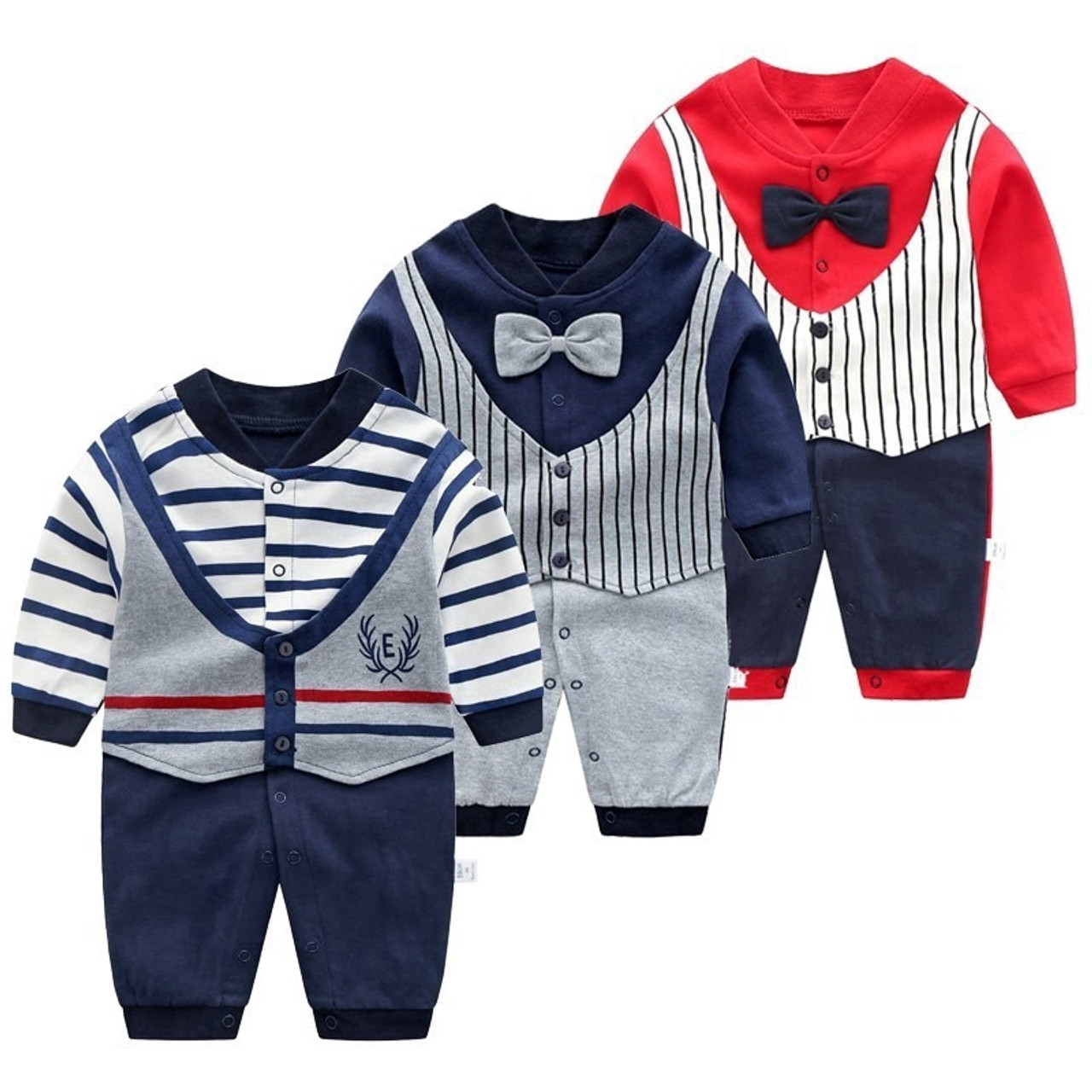 1f0afe8d2 Baby Jumpsuit Autumn Clothing Newborn Cotton Clothes Infant Long ...