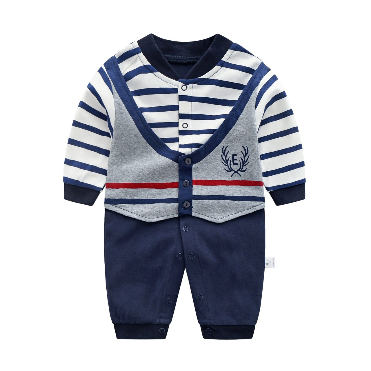 bd1b8a7b3c12 ... Baby Jumpsuit Autumn Clothing Newborn Cotton Clothes Infant Long  Sleeved Rompers Baby Boys Bow Tie Climbing ...
