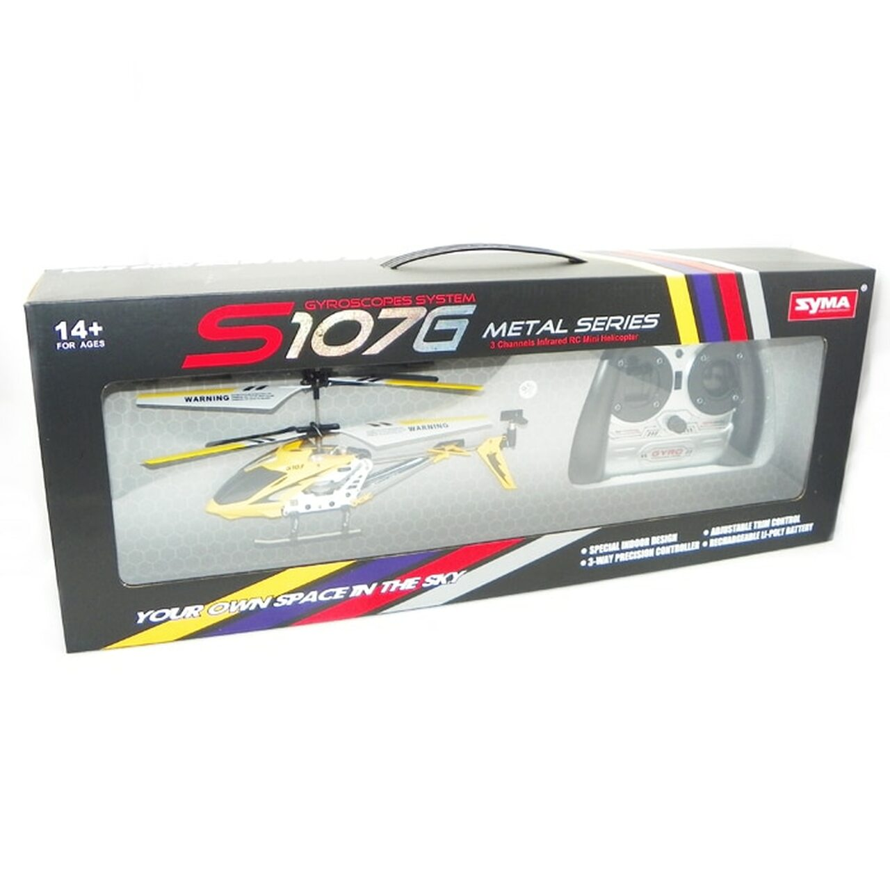 Original Syma S107G S107 3 5CH RC Helicopter with Gyro Radio Control Metal  Alloy Fuselage R/C Helicopter Toys