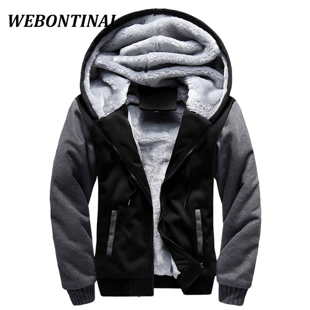 681ca55849f ... WEBONTINAL Hot Sale 2017 Winter Jacket Men Jackets Male Hooded Coats  Quality Zipper Casual Brand Thicken ...