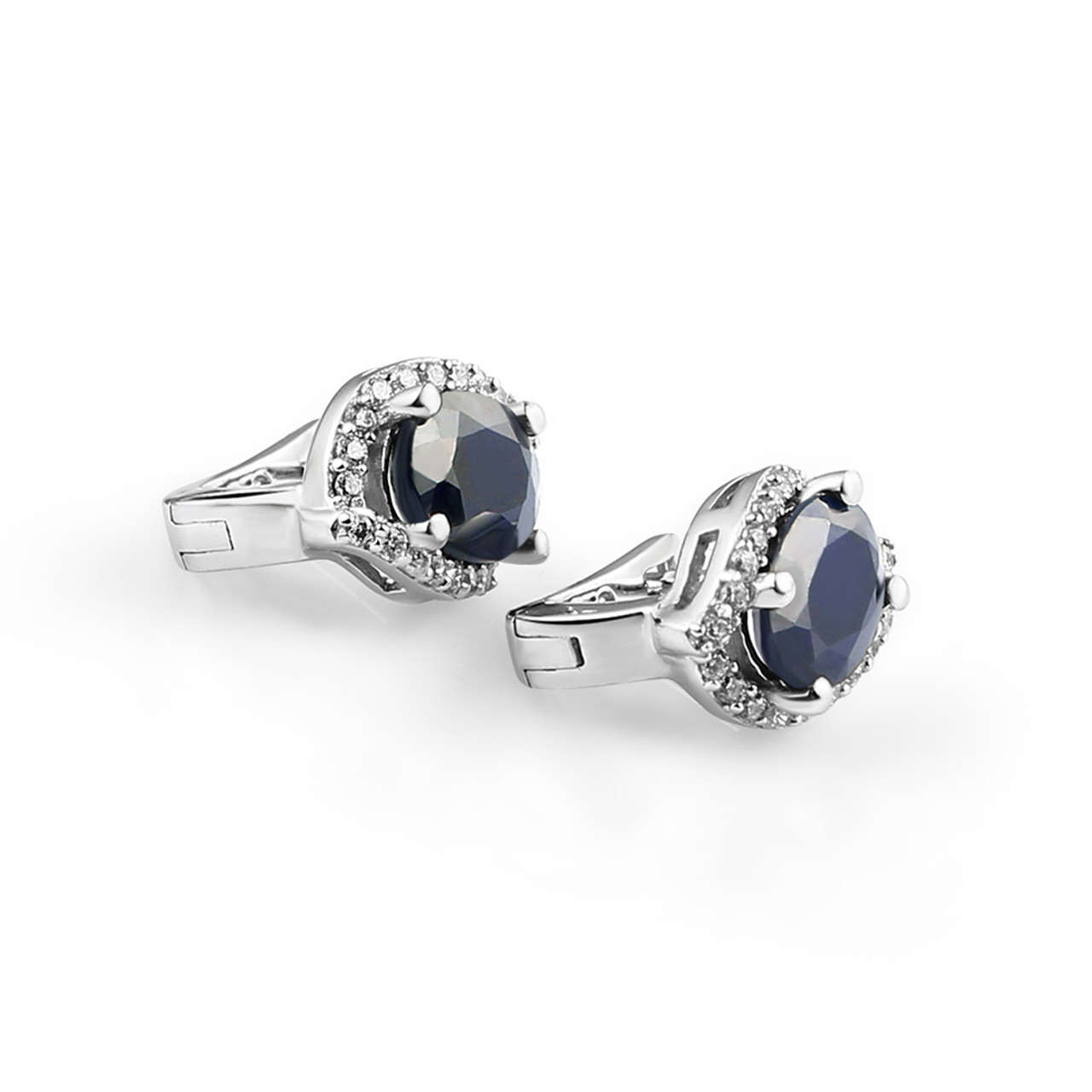 404a55f07 ... Gem's Ballet 3.26C Natural Blue Sapphire Gemstone Vintage Stud Earrings  925 Sterling Silver Fine Jewelry ...