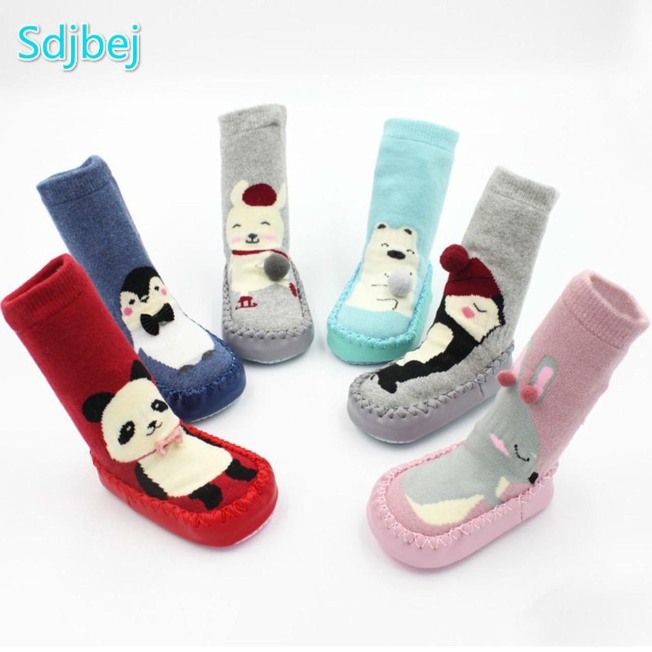 Baby Socks,amazingdeal Kids Thicken Winer Penguin Pattern Pink Warm Antiskid Socks