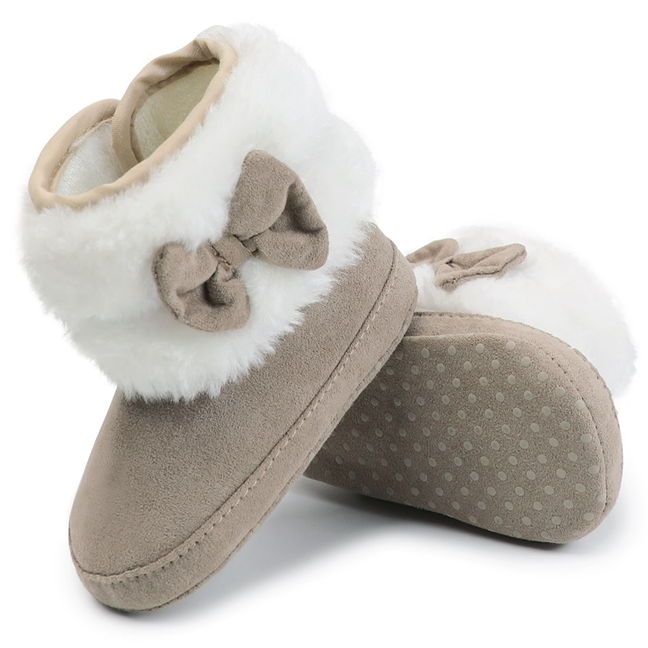 ea48109ba586c Baby Toddler Shoes Babies Winter Warm Booties Faux Fleece Anti-Slip Toddler  Newborn Baby Shoes Bow Crib Shoes Snow Boots