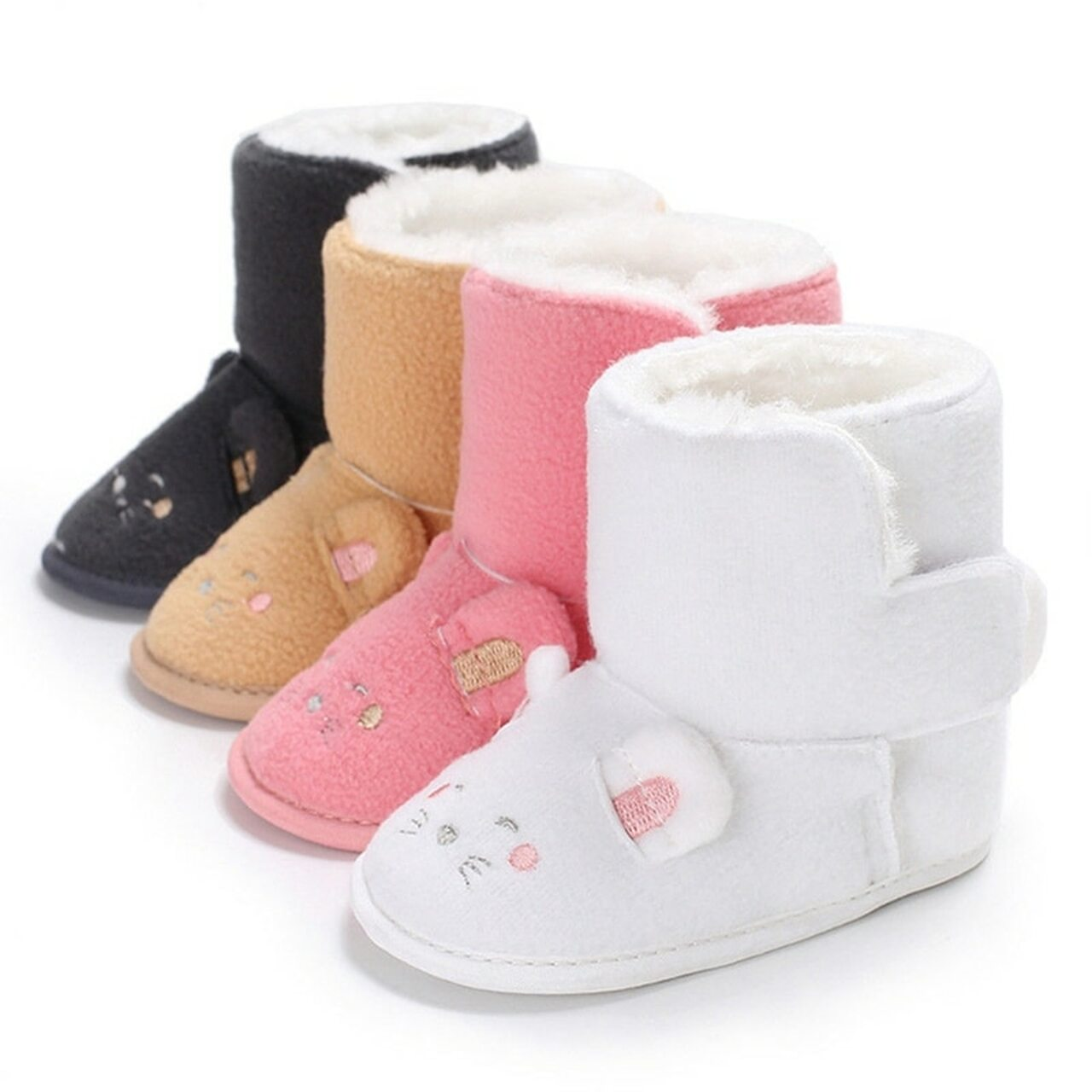 WARM BABY GIRL TODDLER INFANT WINTER WARM BOOTS COTTON BUTTON SHOES COLORS NEW