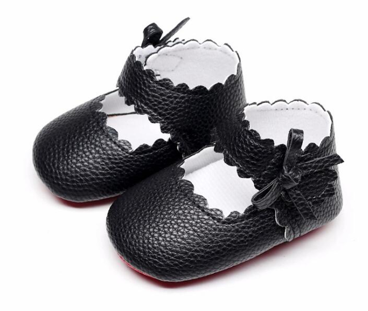 69aa8f6d35e2 ... HONGTEYA New style Baby Girls soft Red sole Ballet Dress Shoes PU  leather Mary Jane Sidebow ...