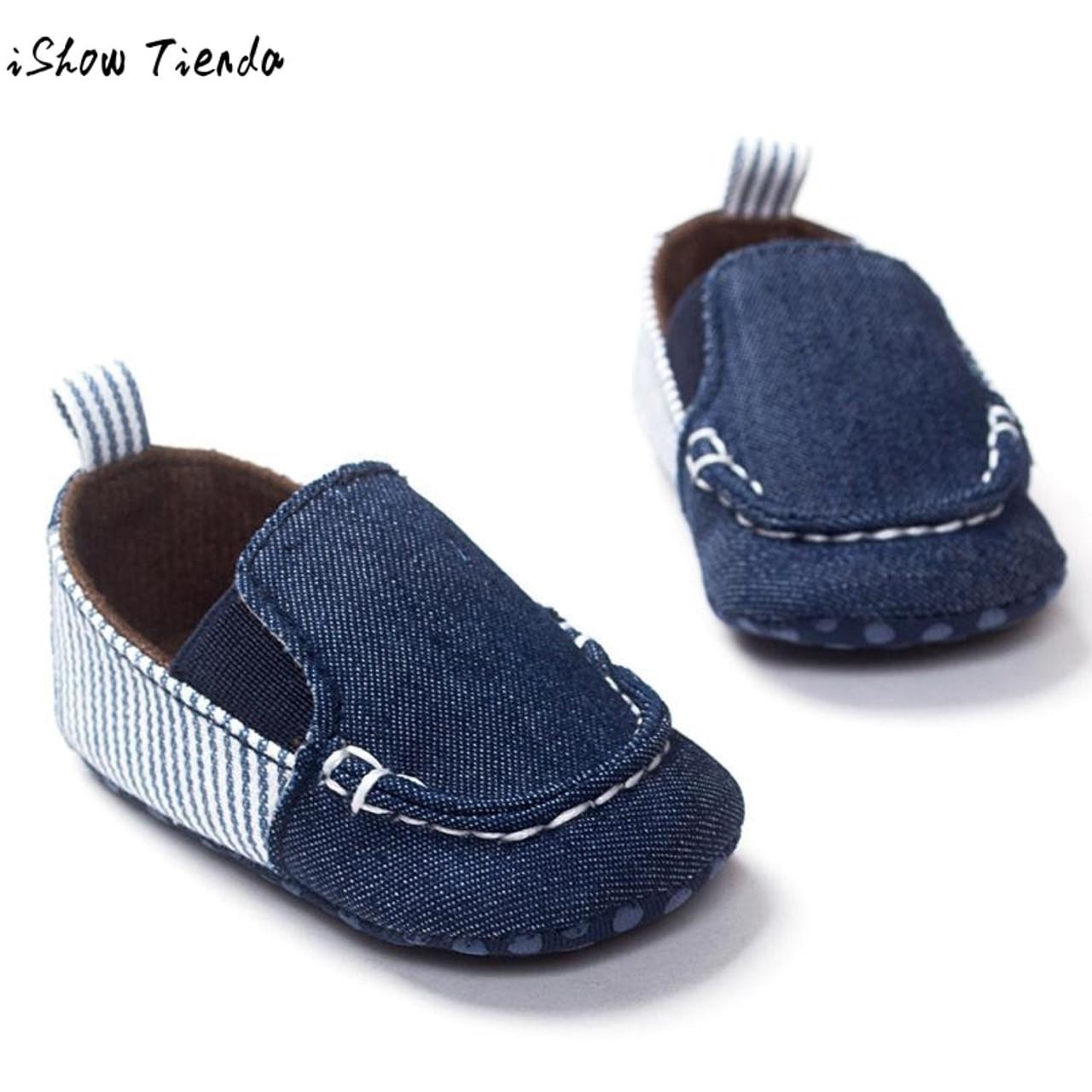 ROMIRUS Baby Boy Shoes Slip-on Blue