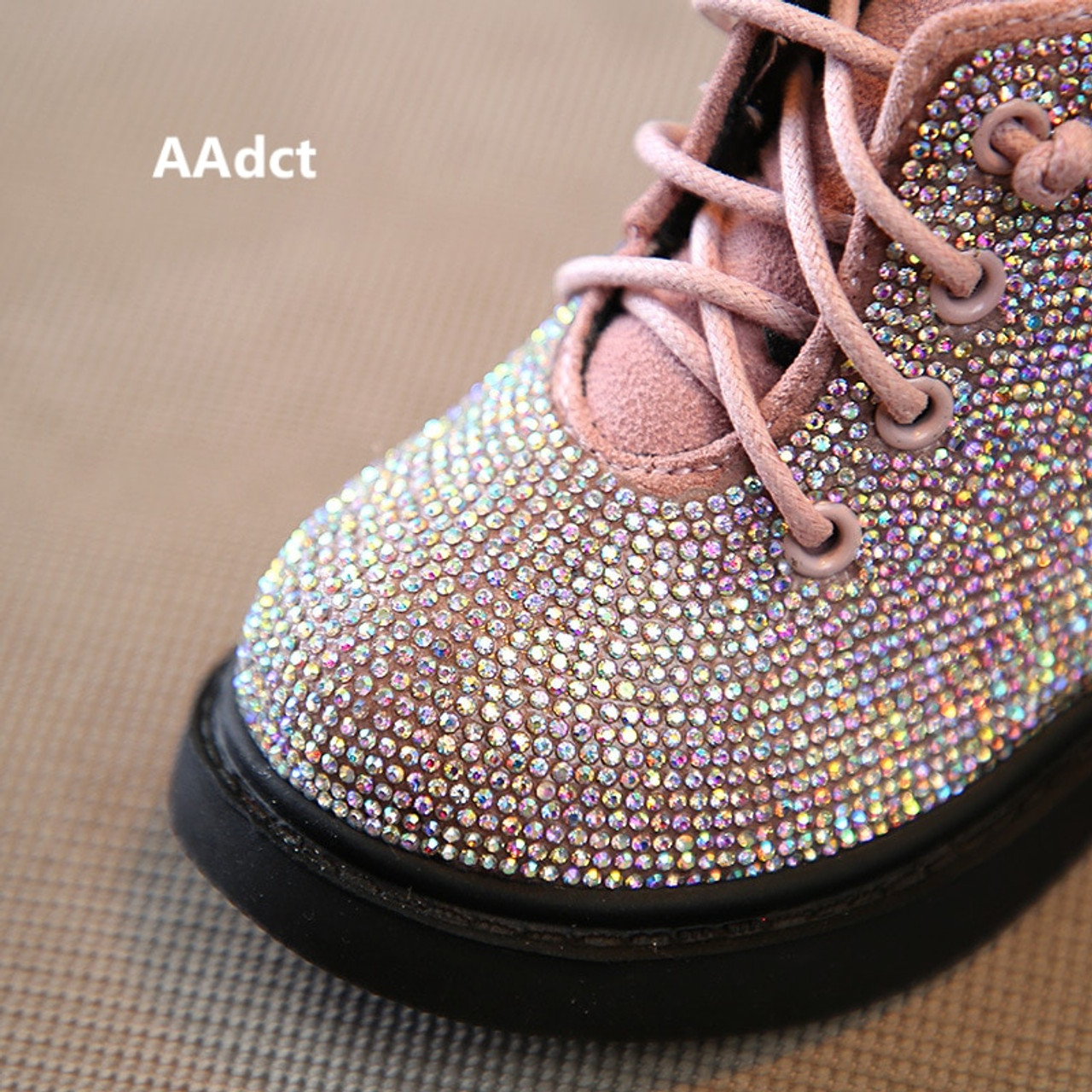 ad552bdb05bc ... AAdct Cotton warm crystal little girls boots Non-slip shinning baby  boots 2018 Winter princess ...