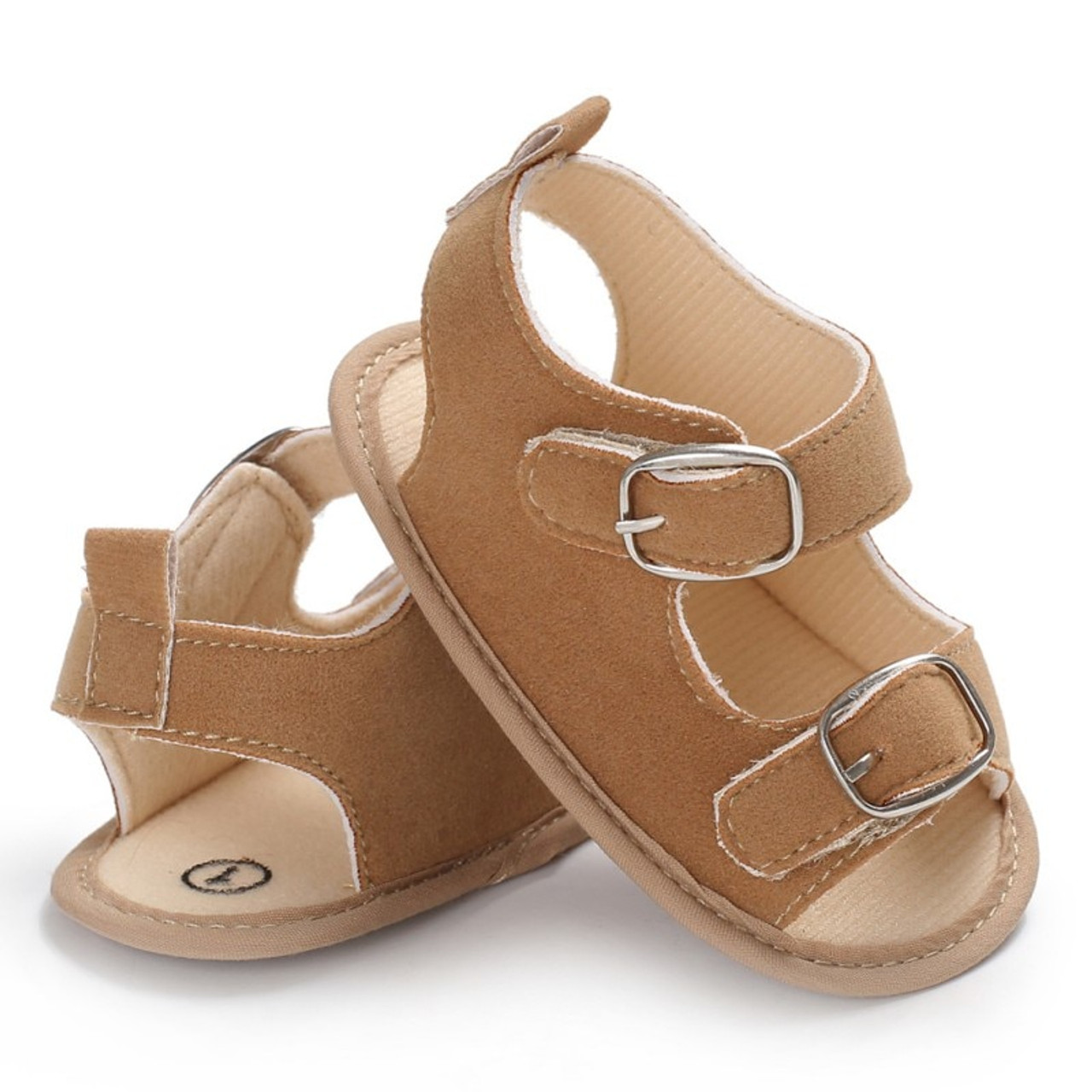 new product 9afb7 a7481 ... Summer Baby Boys Girls Sandals Toddler Solid Color Slip-On Shoes Baby  PU Leather Sandals ...