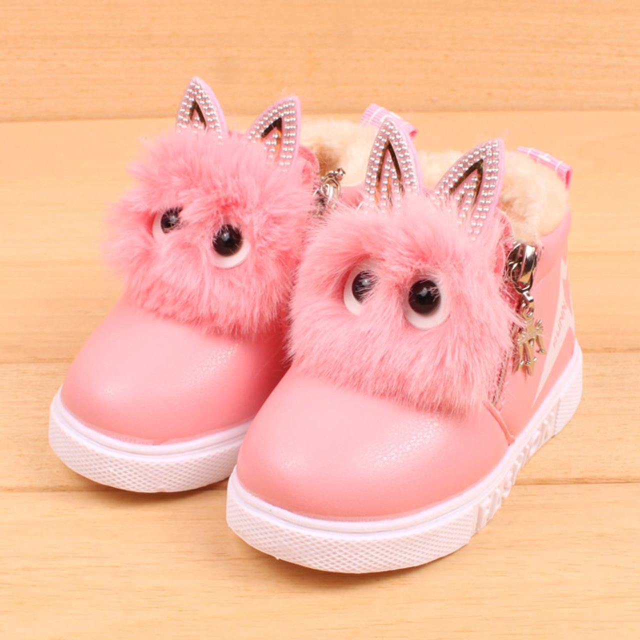 TELOTUNY cute boots girls leather PU