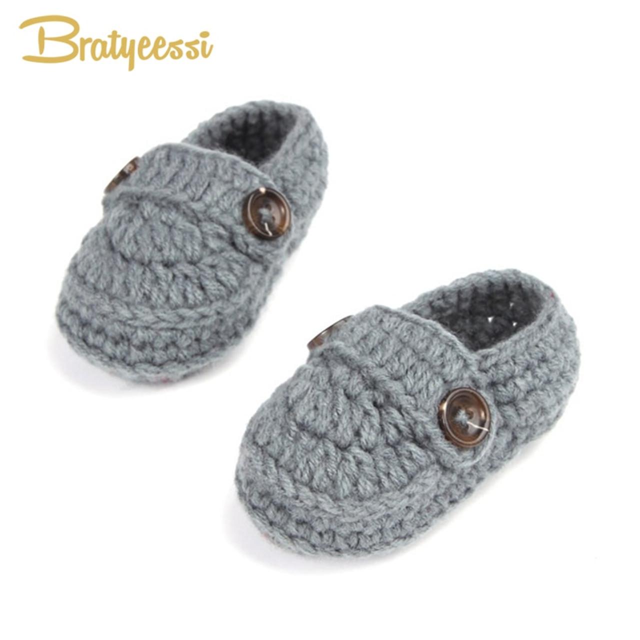 baby boy crochet booties