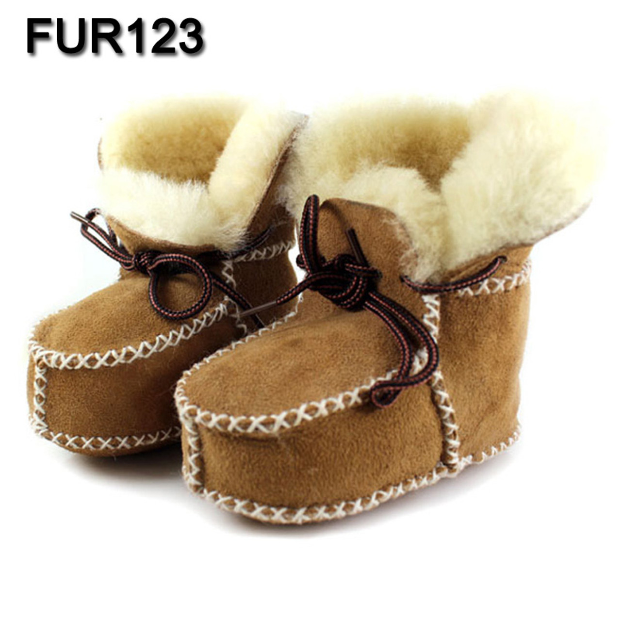3eac1a62581e3 FUR123 Winter Baby Shoes Boots Infants Warm Shoes Fur Wool Girls Baby  Booties Sheepskin Genuine Leather Boy Baby Boots