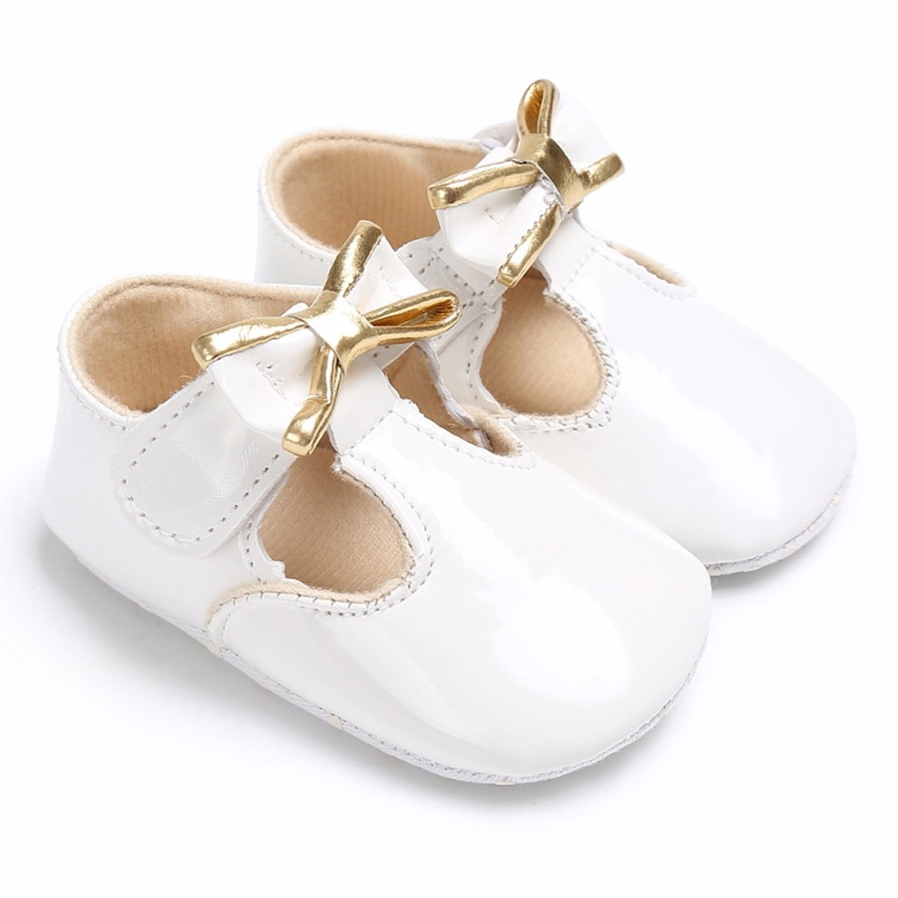 a33885fa573d ... Puseky Sweet Casual Princess Girls Baby Kids Pu Leather Solid Crib Babe Infant  Toddler Cute Bow ...