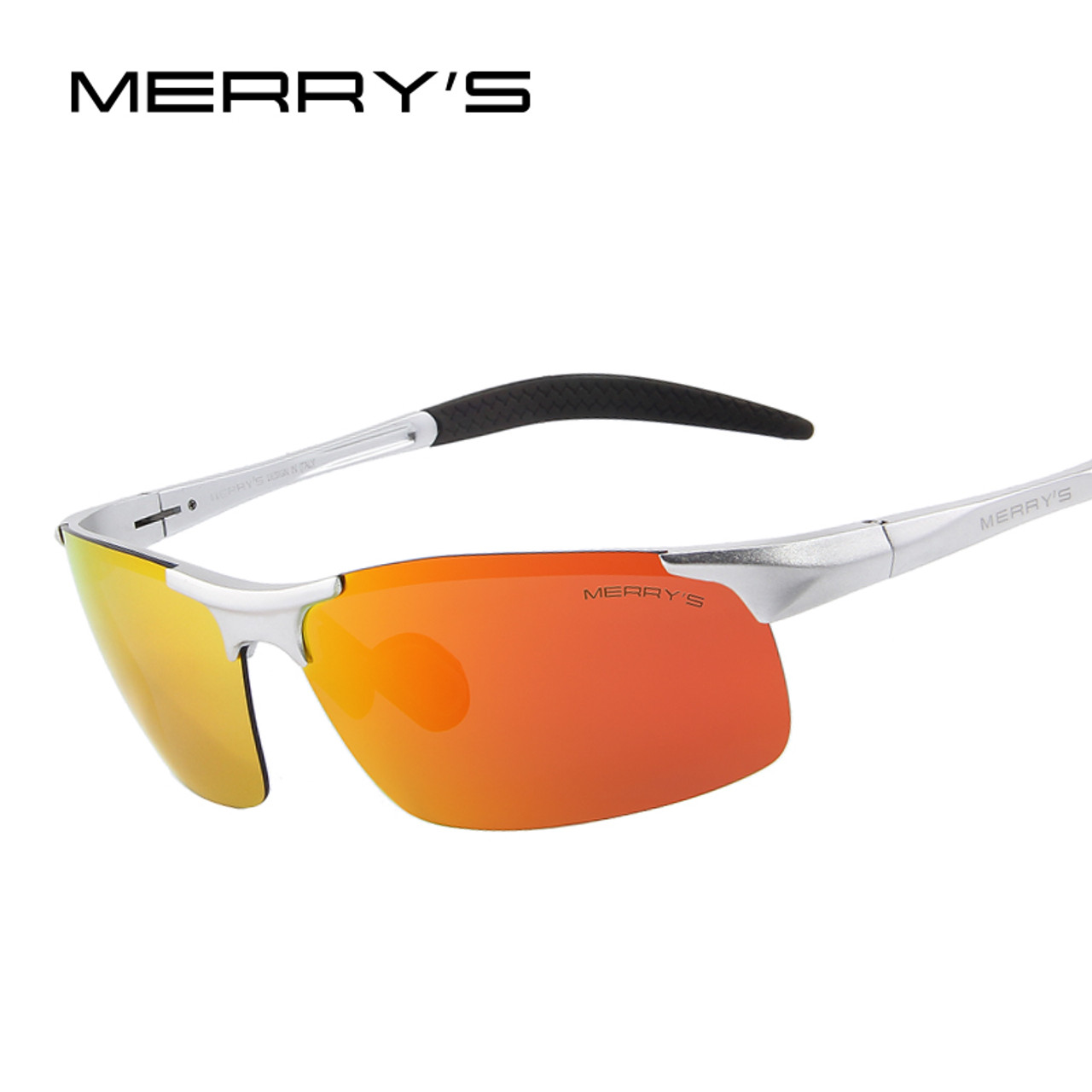eda05228fb MERRY S Men Polarized Sunglasses Aviation Aluminum Magnesium Sun Glasses  For Fishing Driving Rectangle Rimless Shades S 8277 - OnshopDeals.Com