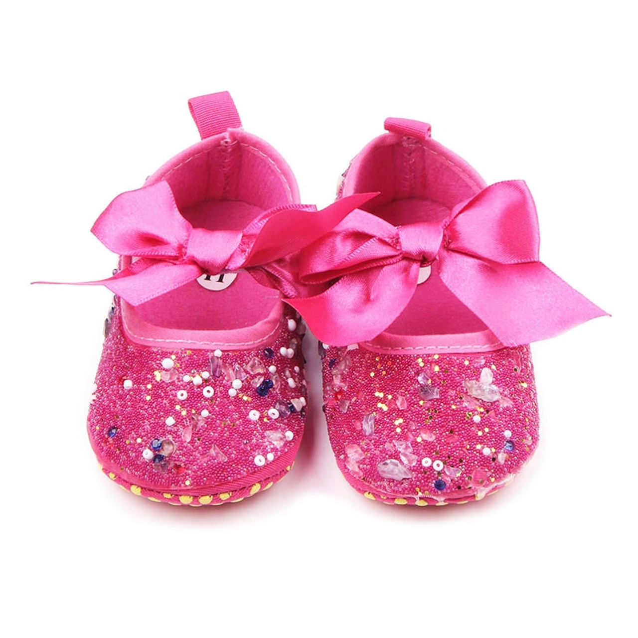 a921d47b2b TongYouYuan Baby Shoes Girls Princess Mary Jane Crystal Pearl DIY Infant  Toddler Bebe Soft Soled Anti-Slip Bow Shoe Footwear