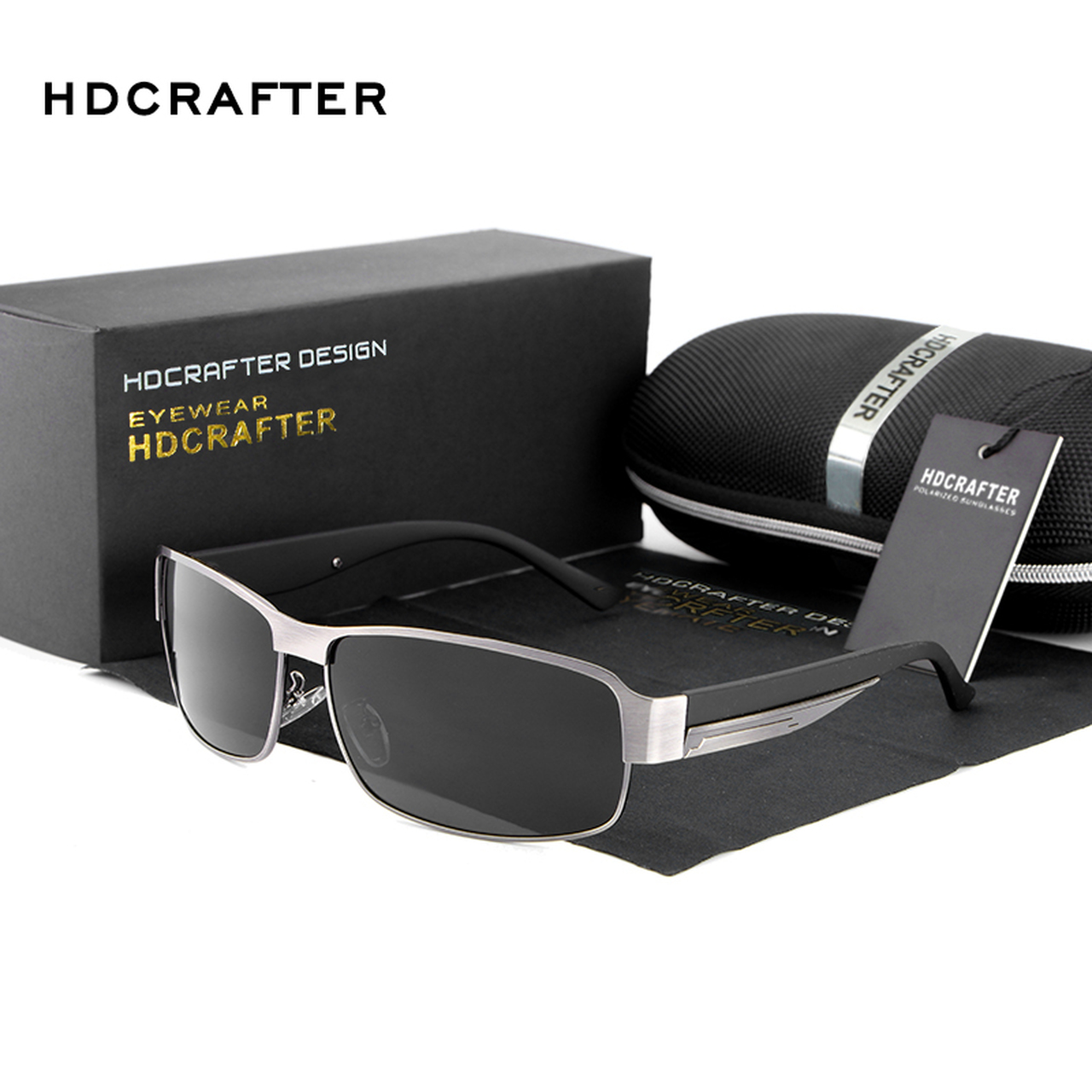 afac9c05e99 New Fashion High Quality Metal Frame Rectangle Lens Polarized Men  Sunglasses Male Driving Sun Glasses ...