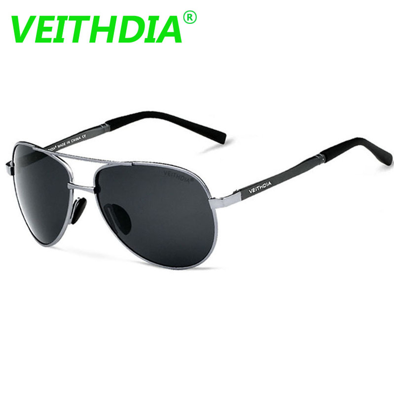 87b2e1f28b ... 2017 VEITHDIA UV400 Pilot Yurt Sun Glasses Men Polarized Sunglasses  Brand Logo Design Driving Glasses Goggles ...