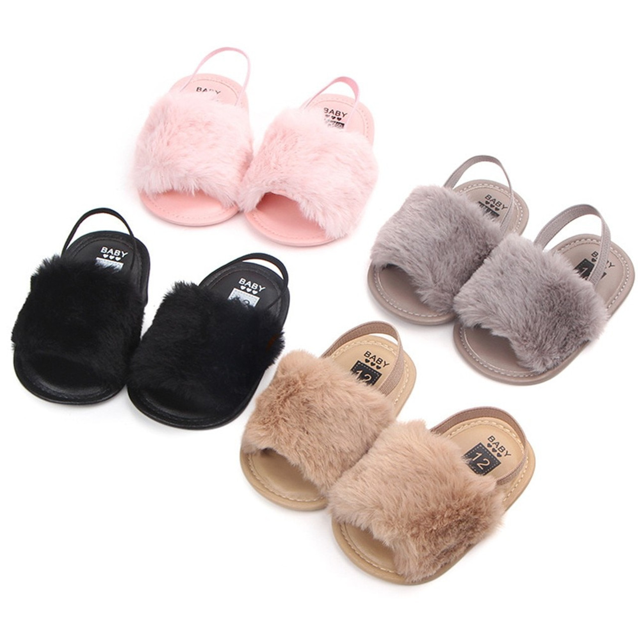 17cb6875091db ARLONEET Shoes Baby Letter Solid Flock Soft Sandals 2018 KIds Baby Flock Girls  Boys Slipper Casual ...