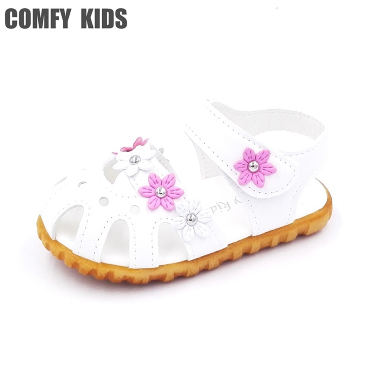 46cf5acf8e9b ... Comfy kids summer baby sandals shoes flower soft bottom fashion infant  sandals shoes for baby girls ...