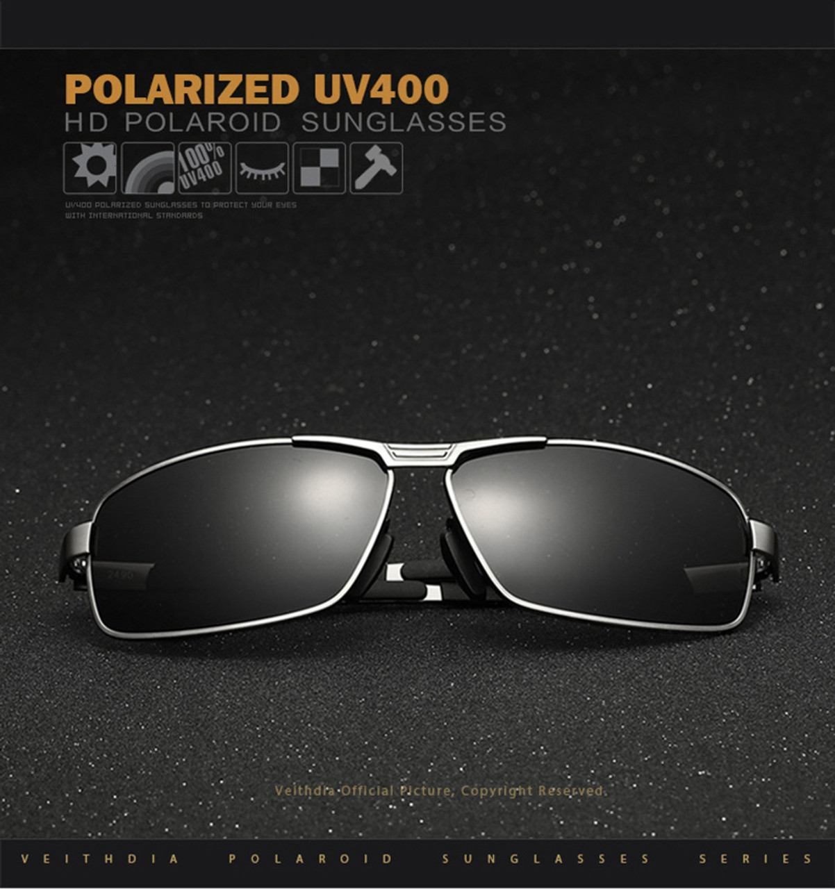 6240dce18a ... VEITHDIA Brand Men s Sunglasses Polarized Sun Glasses oculos de sol  masculino Eyewear Accessories For Men ...