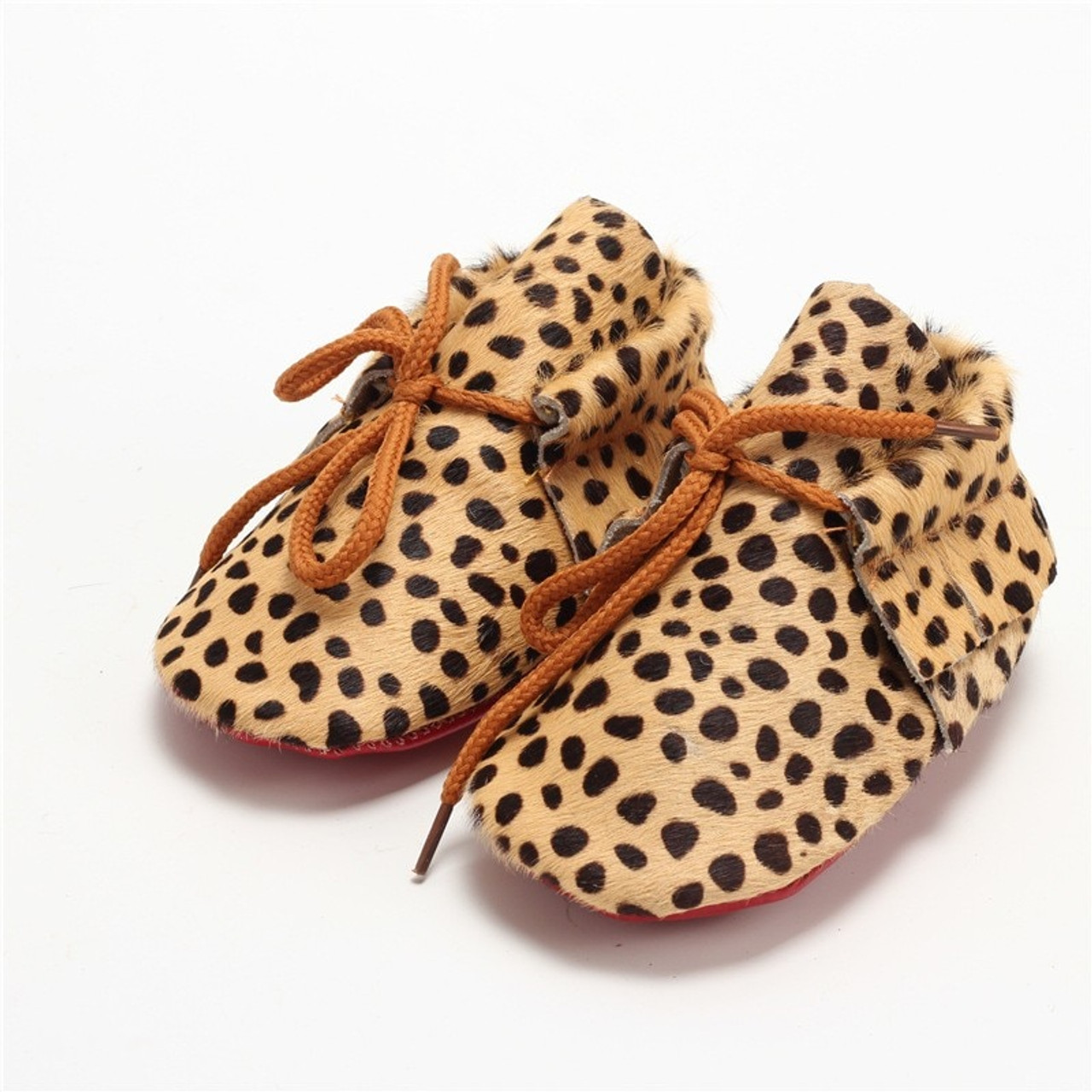 2018 New born Shoes fur polka dot Suede sole shoes leopard baby boots Toddler