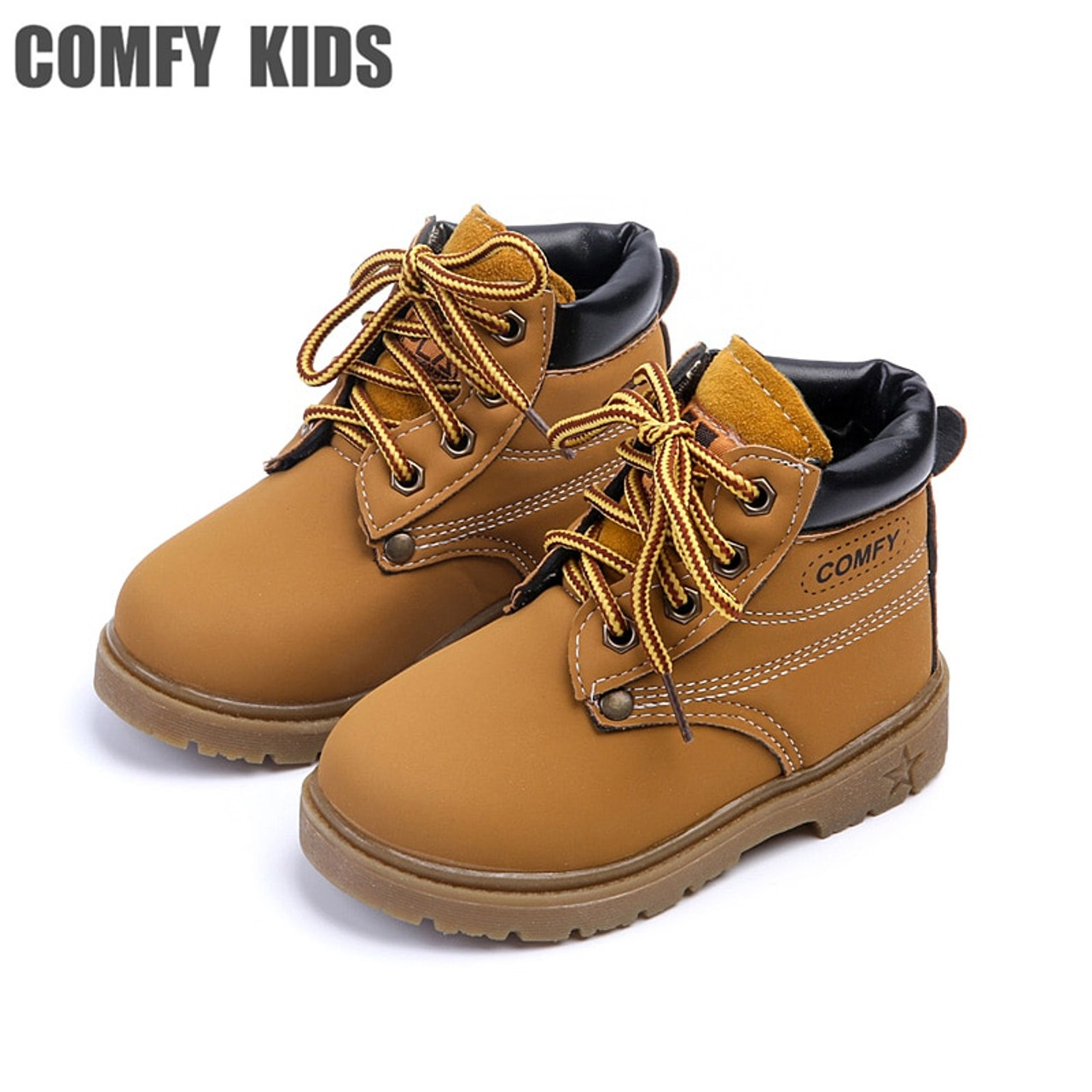 Fashion New Child Snow Boots Shoes Boys Girls Leather Boots Children Kids  Baby Toddlers Shoes For Boys Girls Sneakers Shoe
