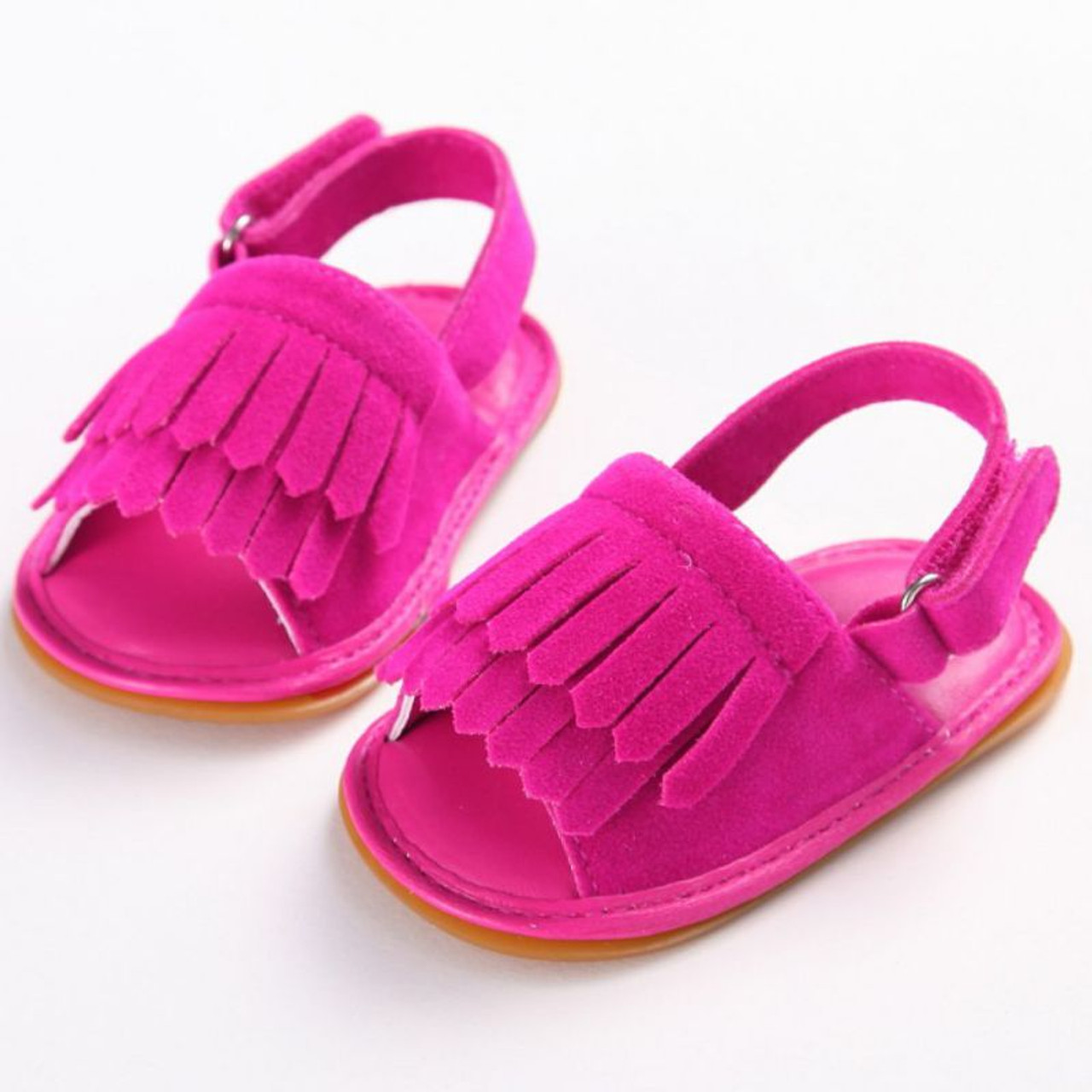 4a9e65cf54 Hot Sale Baby Sandals Summer Leisure Fashion Baby Girls Sandals of Children  PU Tassel Clogs Shoes 7 Colors