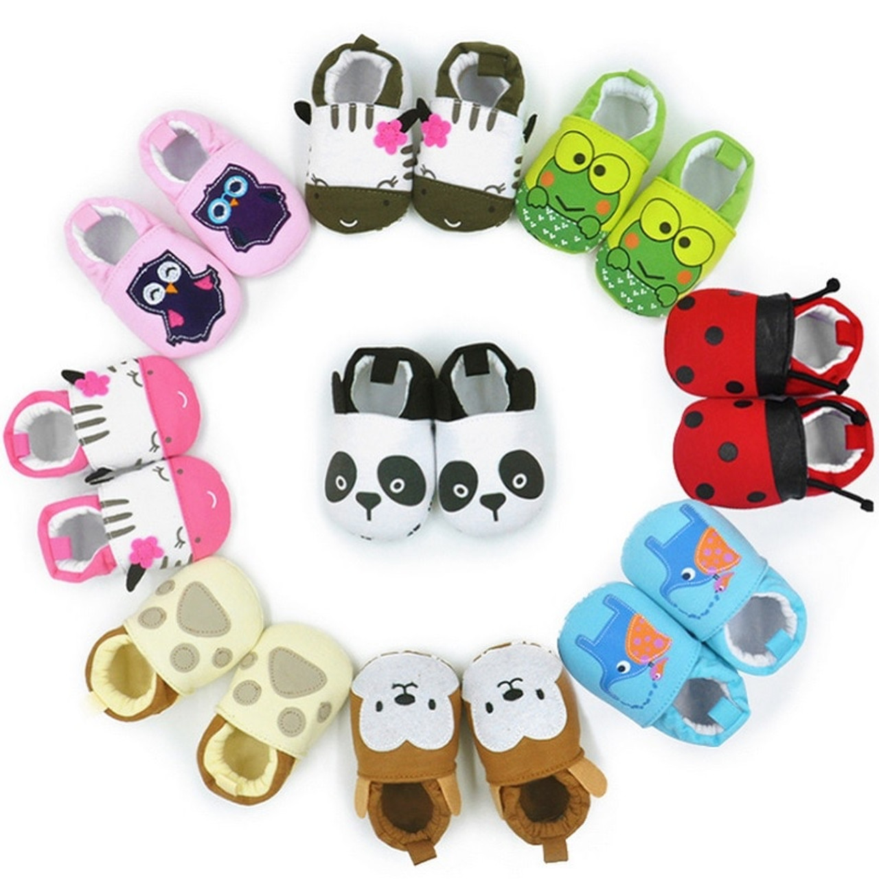 d6b0843c7a6a93 Hooyi Animal Baby Boy shoe Newborn shoes 0 1 2 Year Infant Girl Boots Bebe  First ...