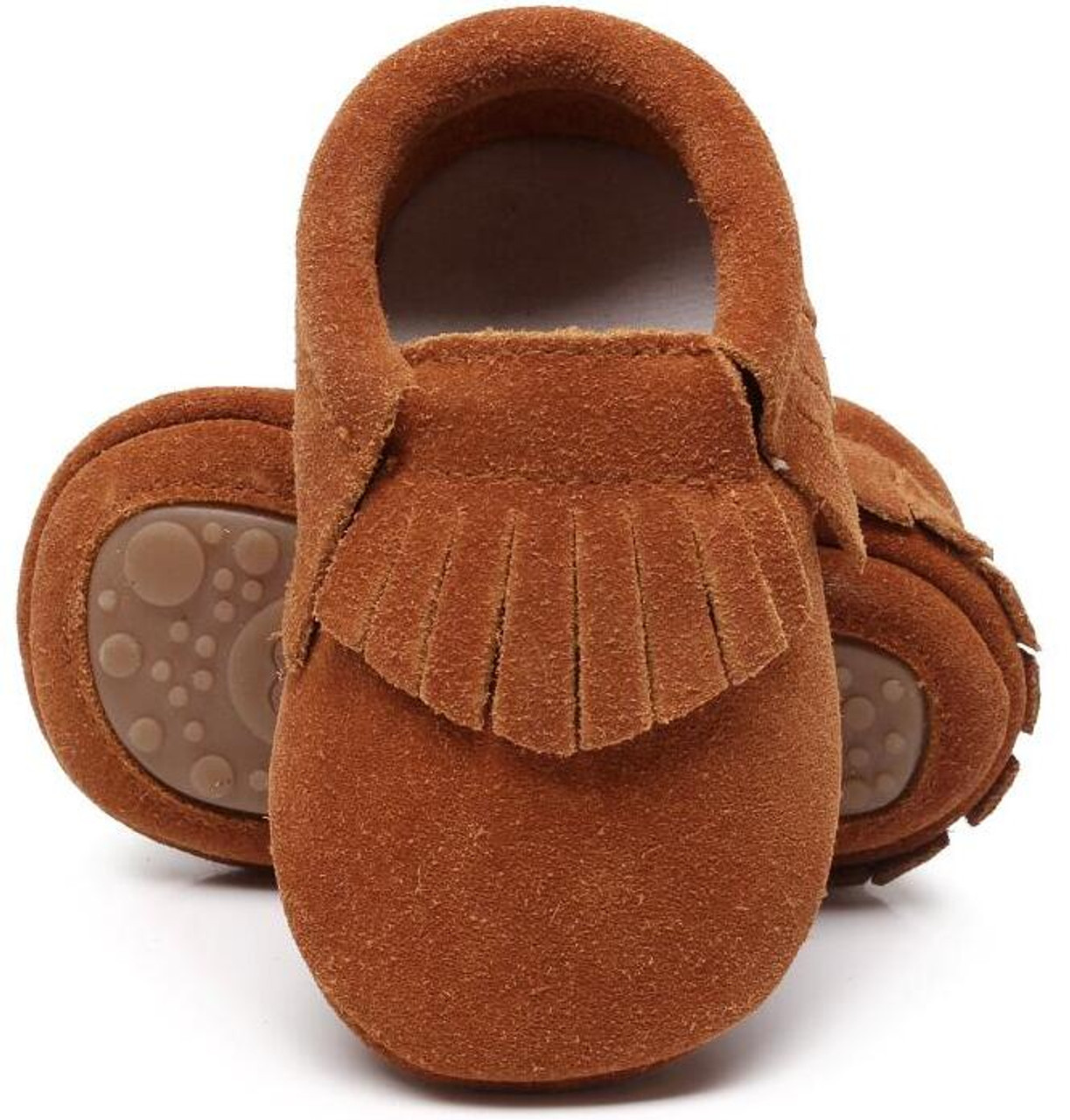 28941a0c5033 New hot sell genuine suede leather Baby moccasins shoes fringe solid hard  Rubber sole baby shoes ...