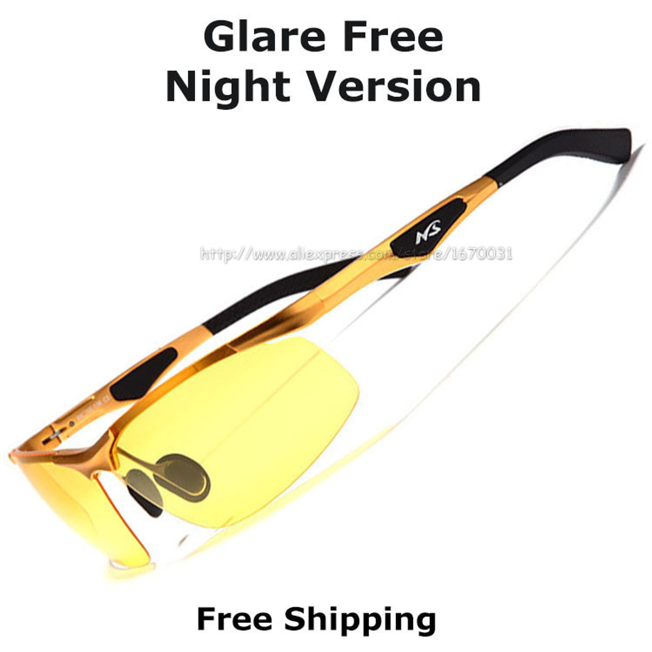 a612fa07c8 ... New AORON 2017 Anti-Glare Goggles Eyeglasses Polarized Driving  Sunglasses Yellow Lens Night Vision Driving ...