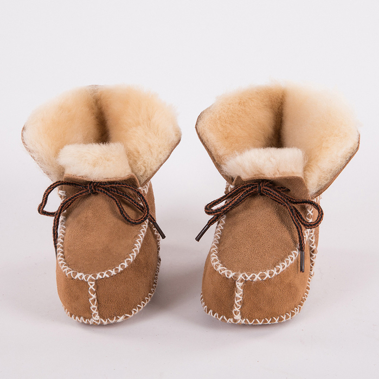 90532a74ca9 New Keep warm winter Genuine Leather Wool fur baby boy boots toddler girls  soft Moccasins shoes with plush Sheepskin booties