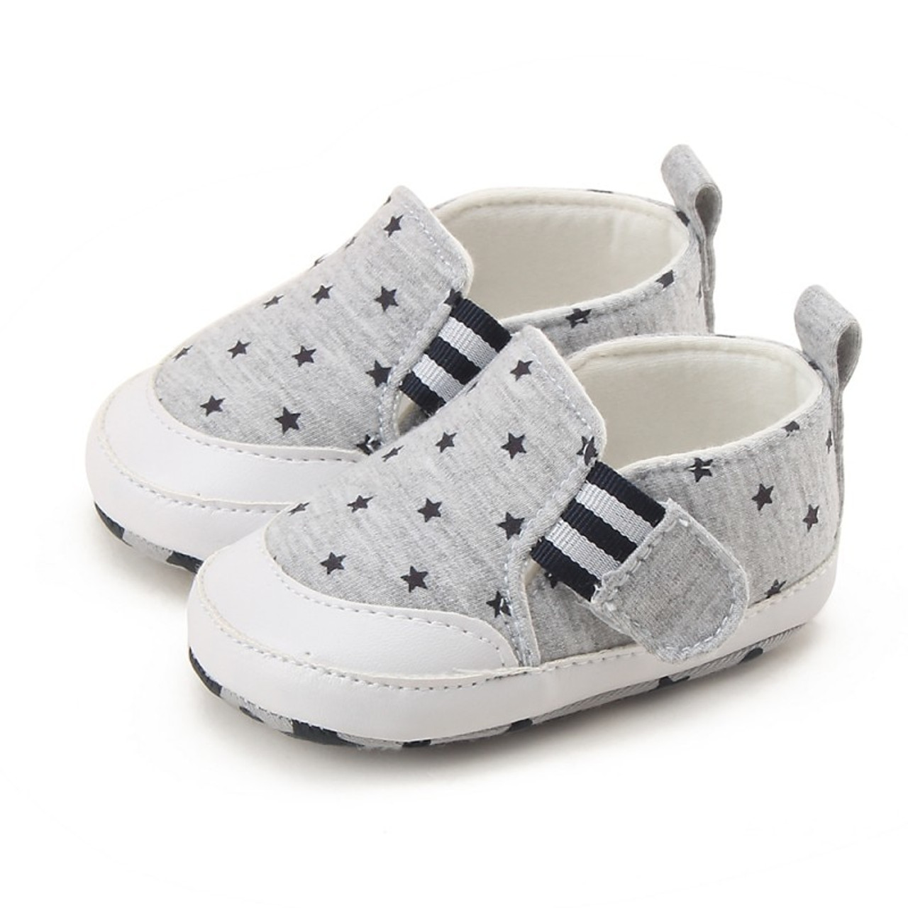 dce852126 2017 Hot Sale Kids Baby Soft Bottom Walking Shoes Striped Anti-Slip Cotton  Fabric Toddler Infant Sneakers - OnshopDeals.Com