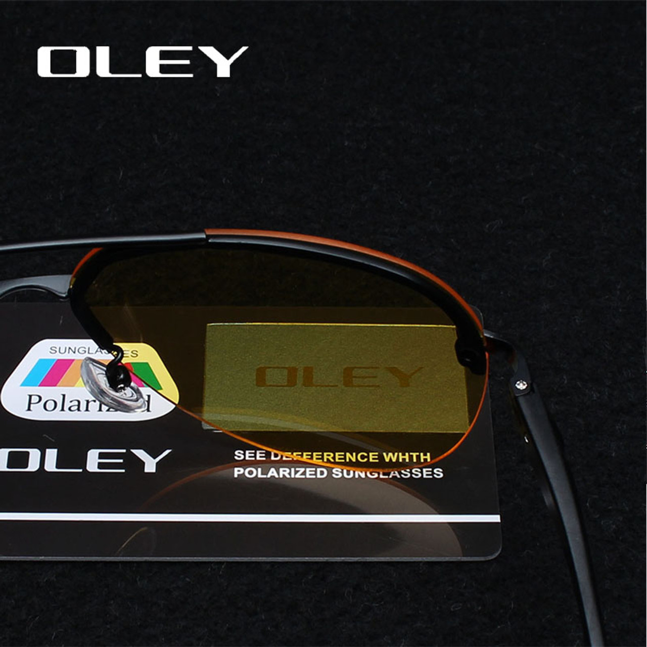8bafcb6c1f ... OLEY Yellow Polarized Sunglasses Men night vision glasses Brand  Designer women spectacles car drivers Aviation goggles ...
