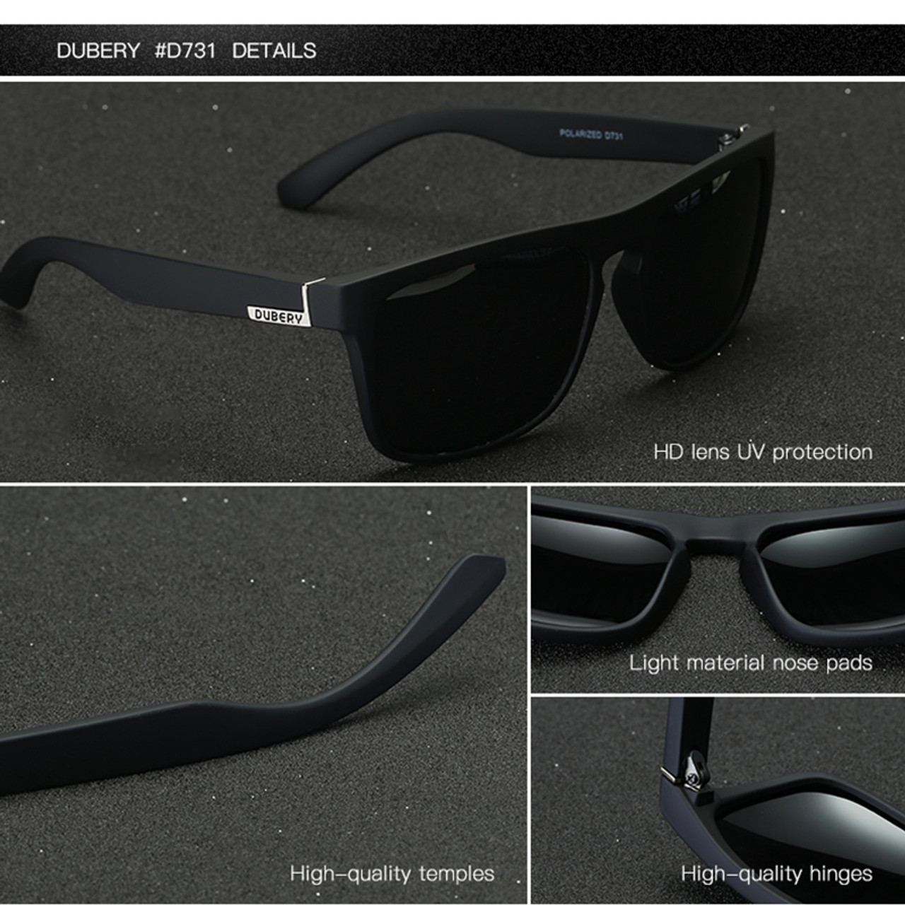 7386ae727f ... DUBERY Polarized Sunglasses Men s Aviation Driving Shades Male Sun  Glasses For Men Retro Cheap 2017 Luxury ...