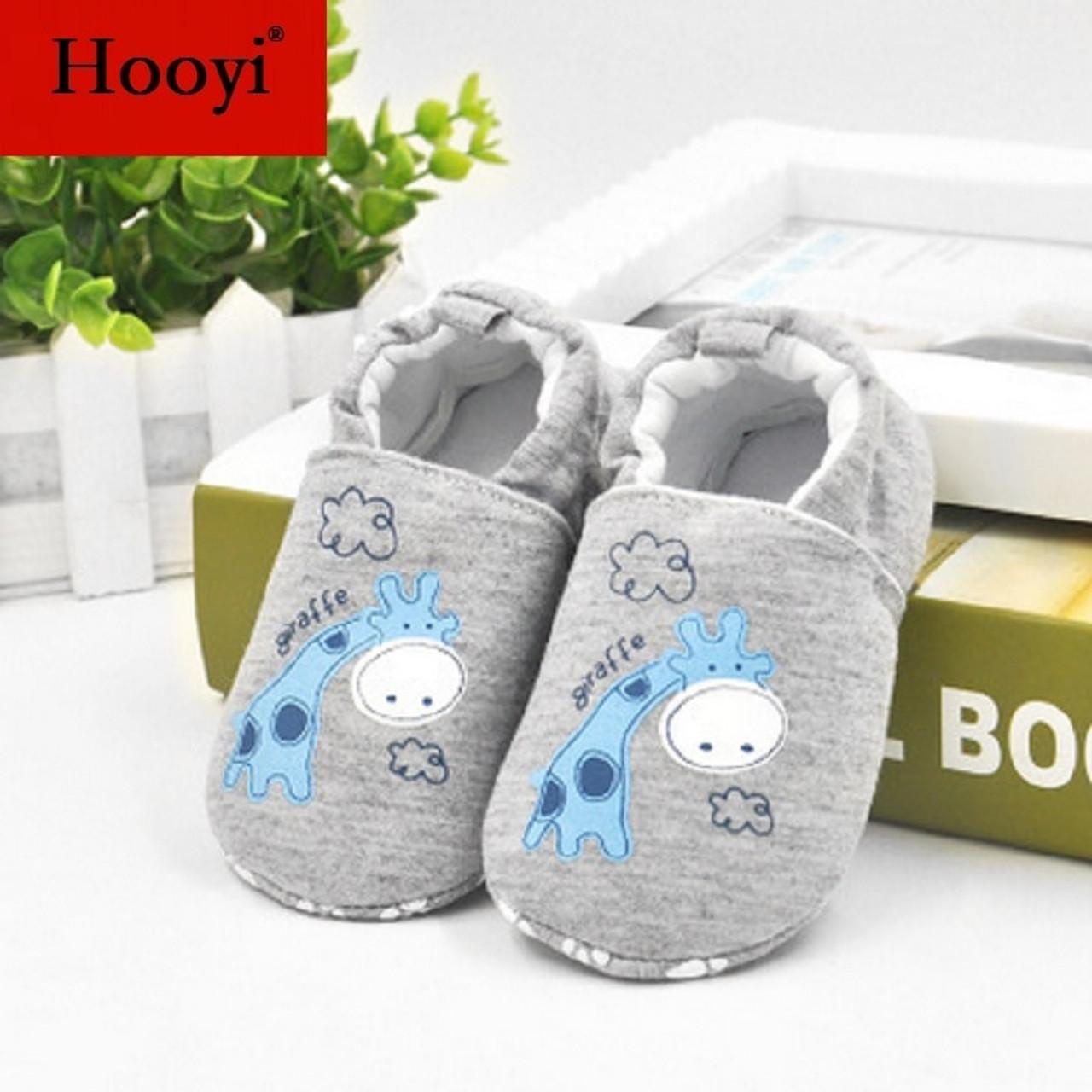 7d0d92c12590c Giraffe Hooyi Baby Boy Shoes Anti-Slip Newborn Shoe Cotton Children  Sneakers Toddler First Walkers ...