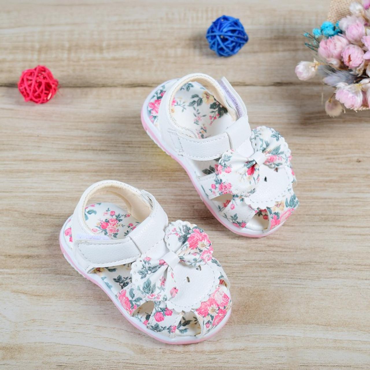 ... 2018 Baby Sandals Newborn Baby Girl Sandals Summer Flower Baby Shoes  Anti-Slip Closed Toe ...