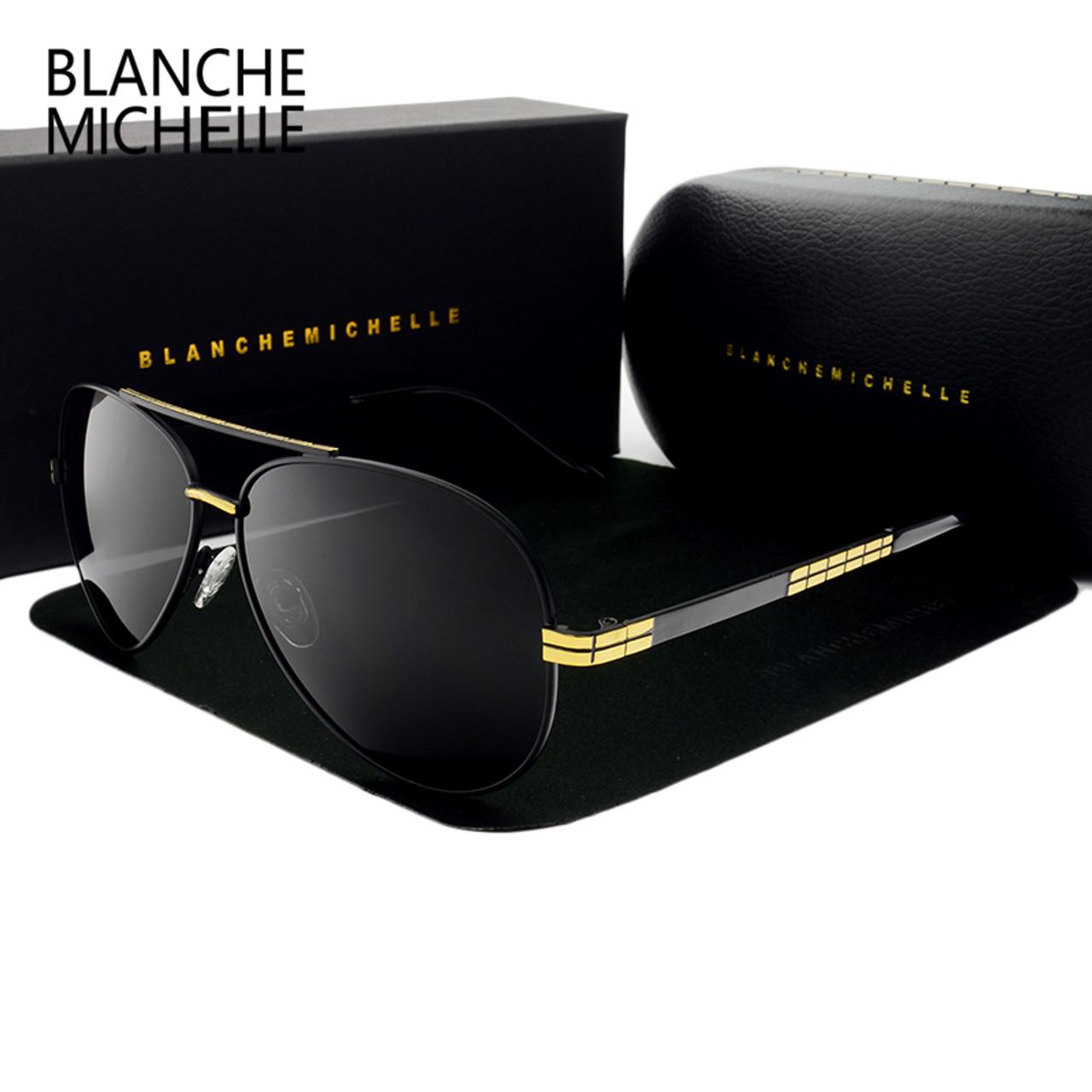 bcca0e0dfb4 2017 High quality New Pilot sunglasses men Polarized luxury brand vintage  Mens Sun glasses Driving UV400 Sunglass With Box - OnshopDeals.Com