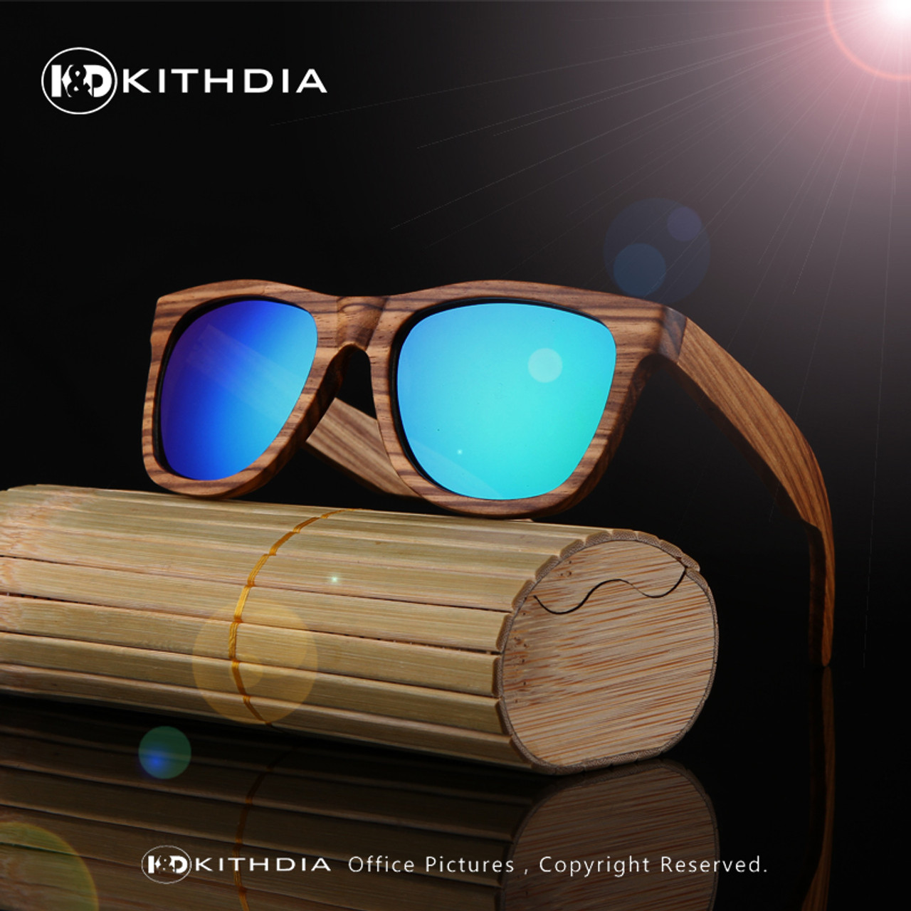 2534f9ac11 ... KITHDIA New 100% Real Zebra Wood Sunglasses Polarized Handmade Bamboo  Mens Sunglass Sun glasses Men ...