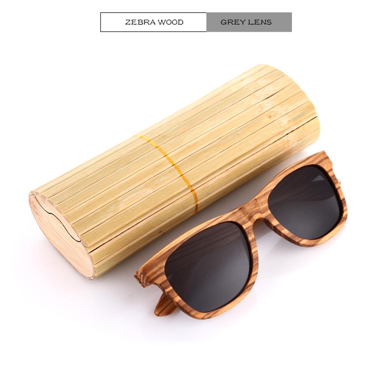40335424ce6 ... KITHDIA New 100% Real Zebra Wood Sunglasses Polarized Handmade Bamboo  Mens Sunglass Sun glasses Men ...
